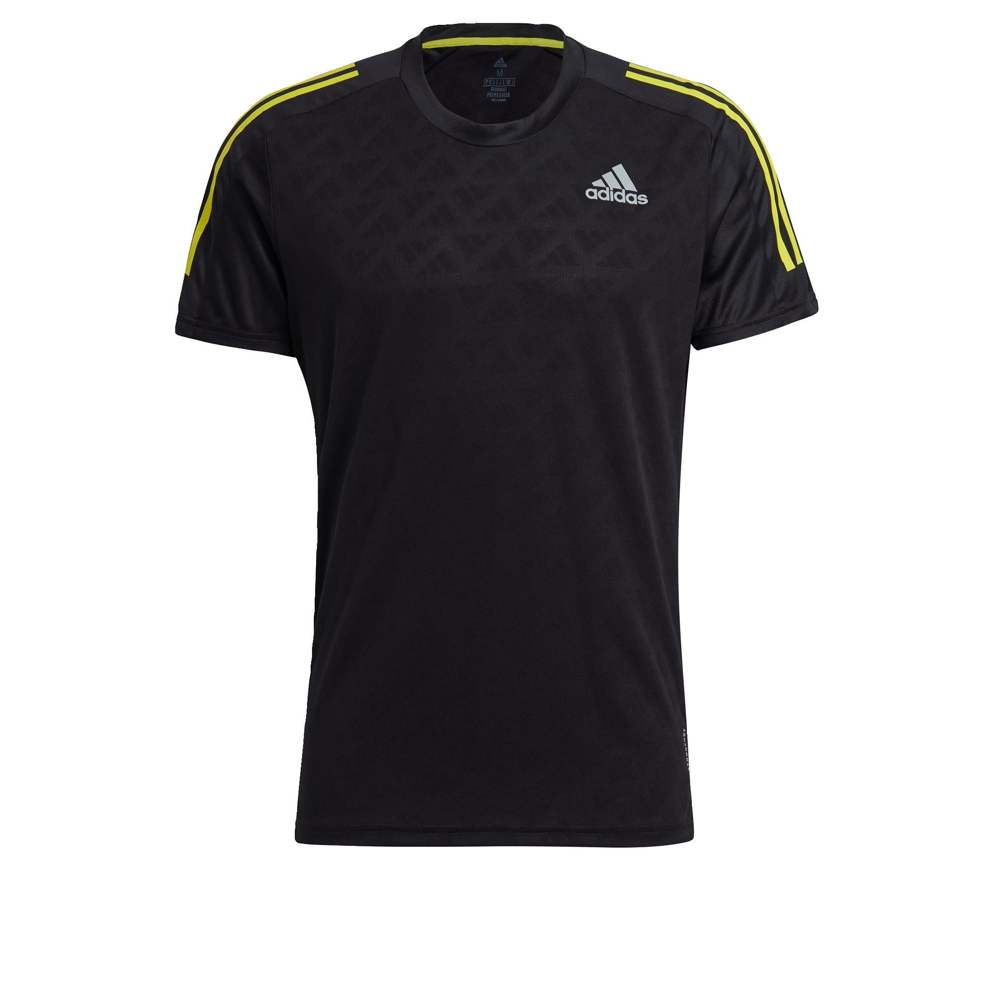 ADIDAS PERFORMANCE Sportiniai marškinėliai juoda / balta / geltona