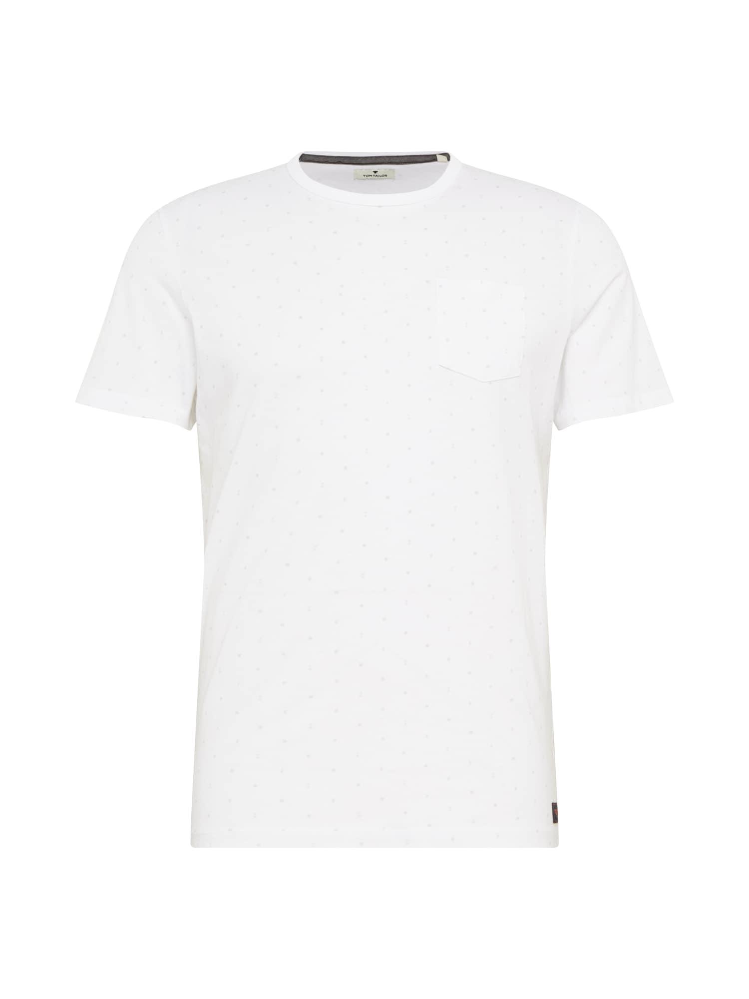 TOM TAILOR Tričko  bílá