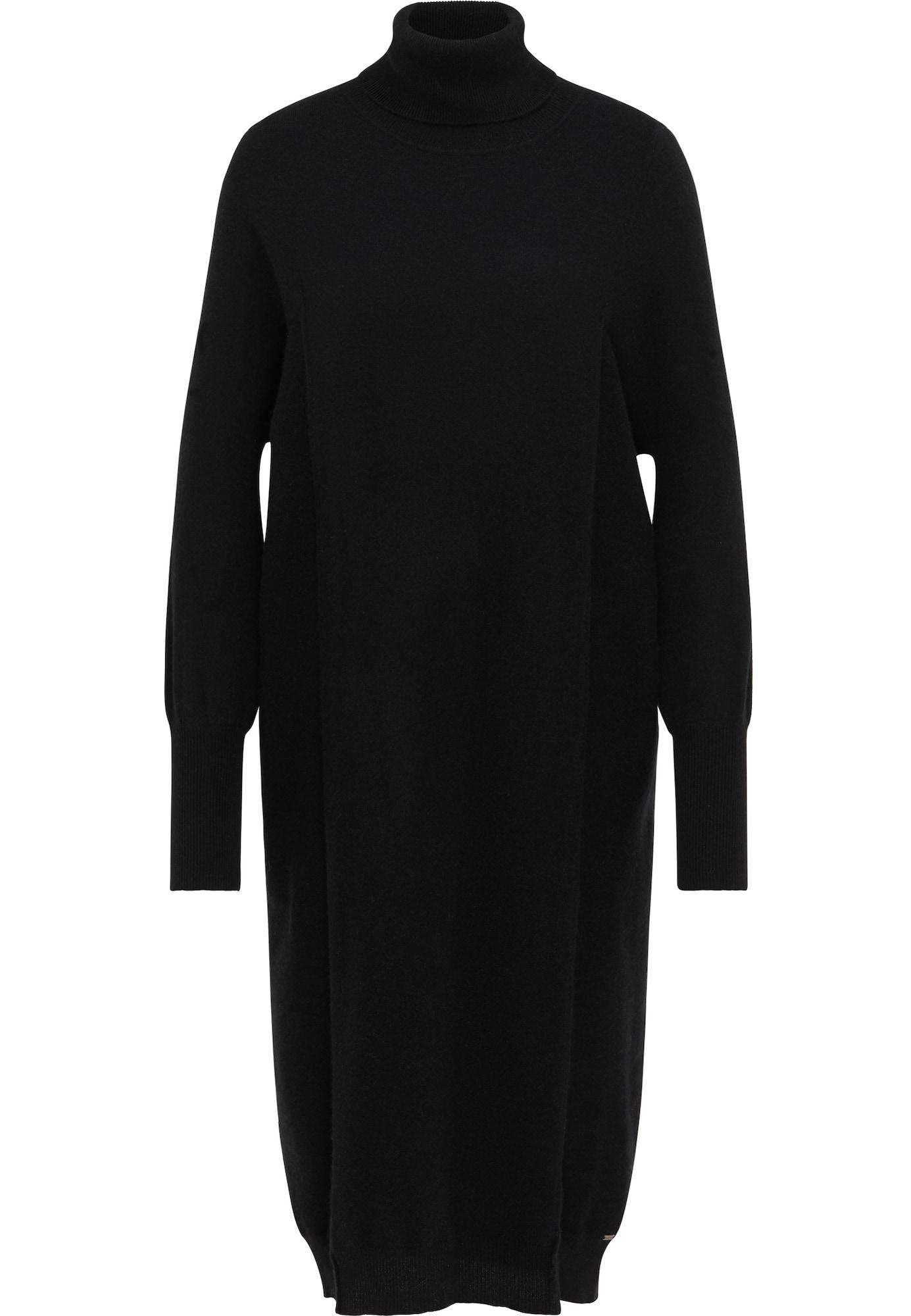 DreiMaster PREMIUM Megzta suknelė juoda