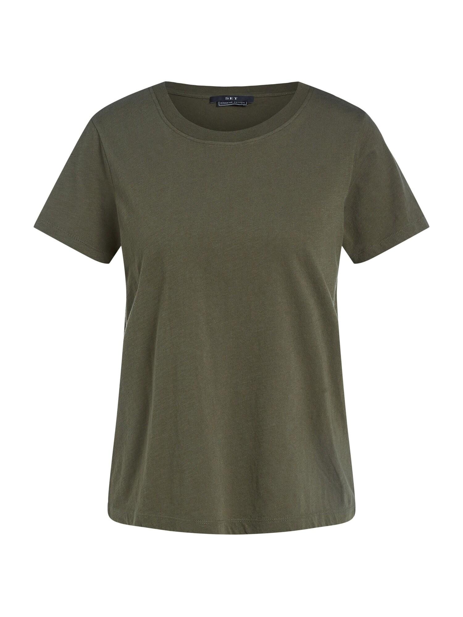 SET Tričko  tmavě zelená