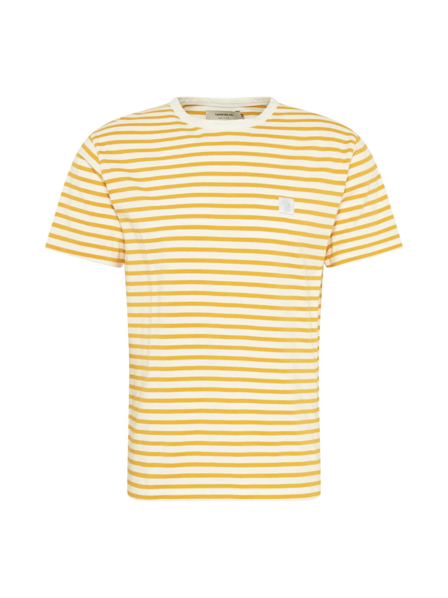 Thinking MU Marškinėliai aukso geltonumo spalva / balta