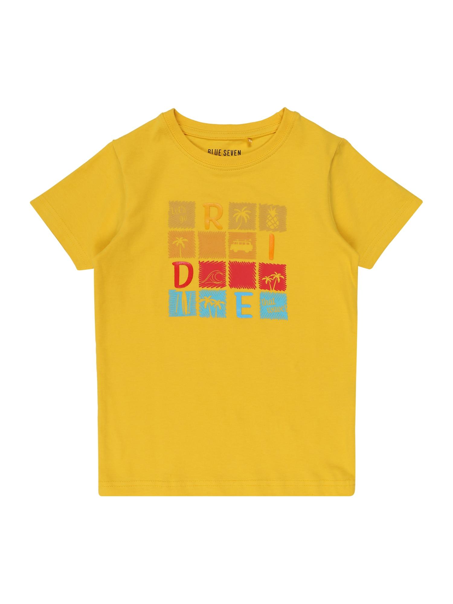 BLUE SEVEN Marškinėliai geltona / mėlyna / raudona