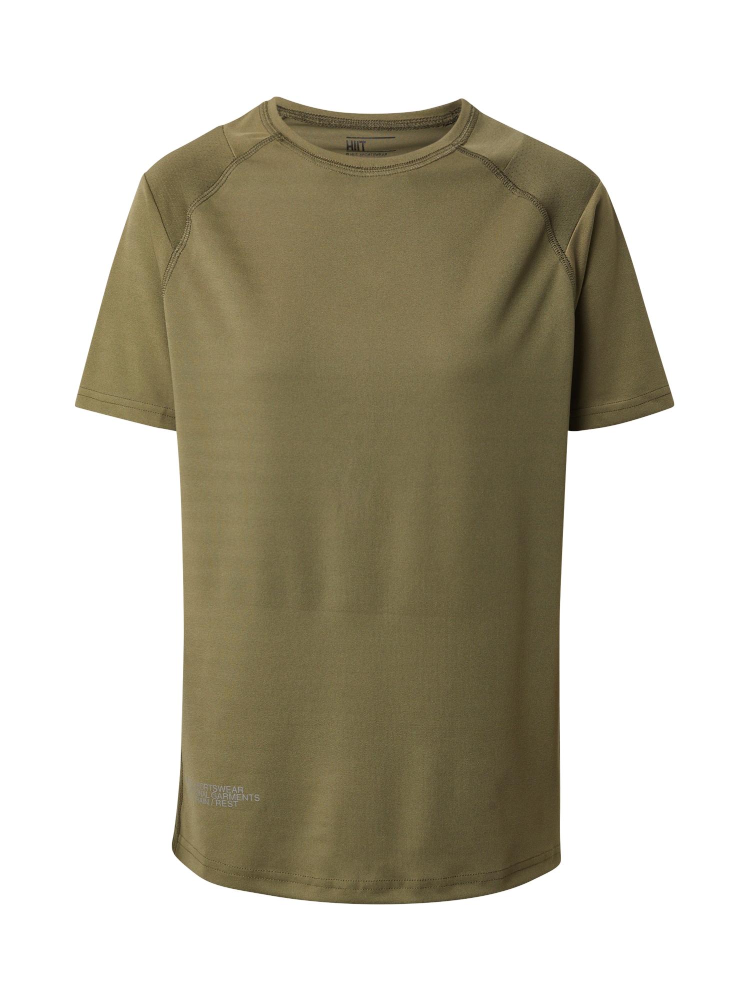 HIIT Sportiniai marškinėliai rusvai žalia