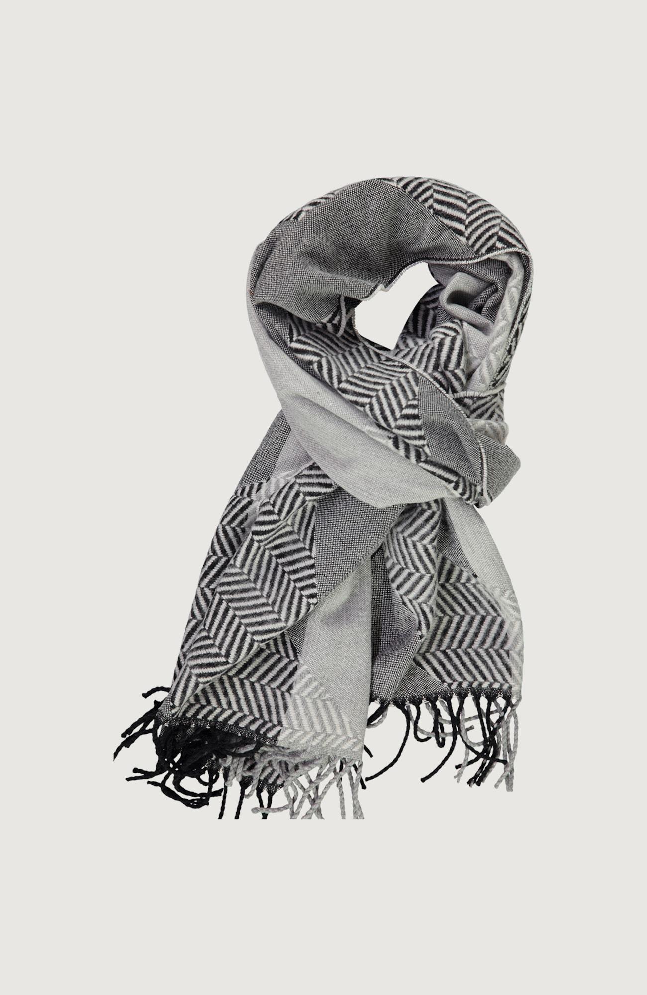 O'NEILL Šála 'Herringbone'  černá / světle šedá / šedá