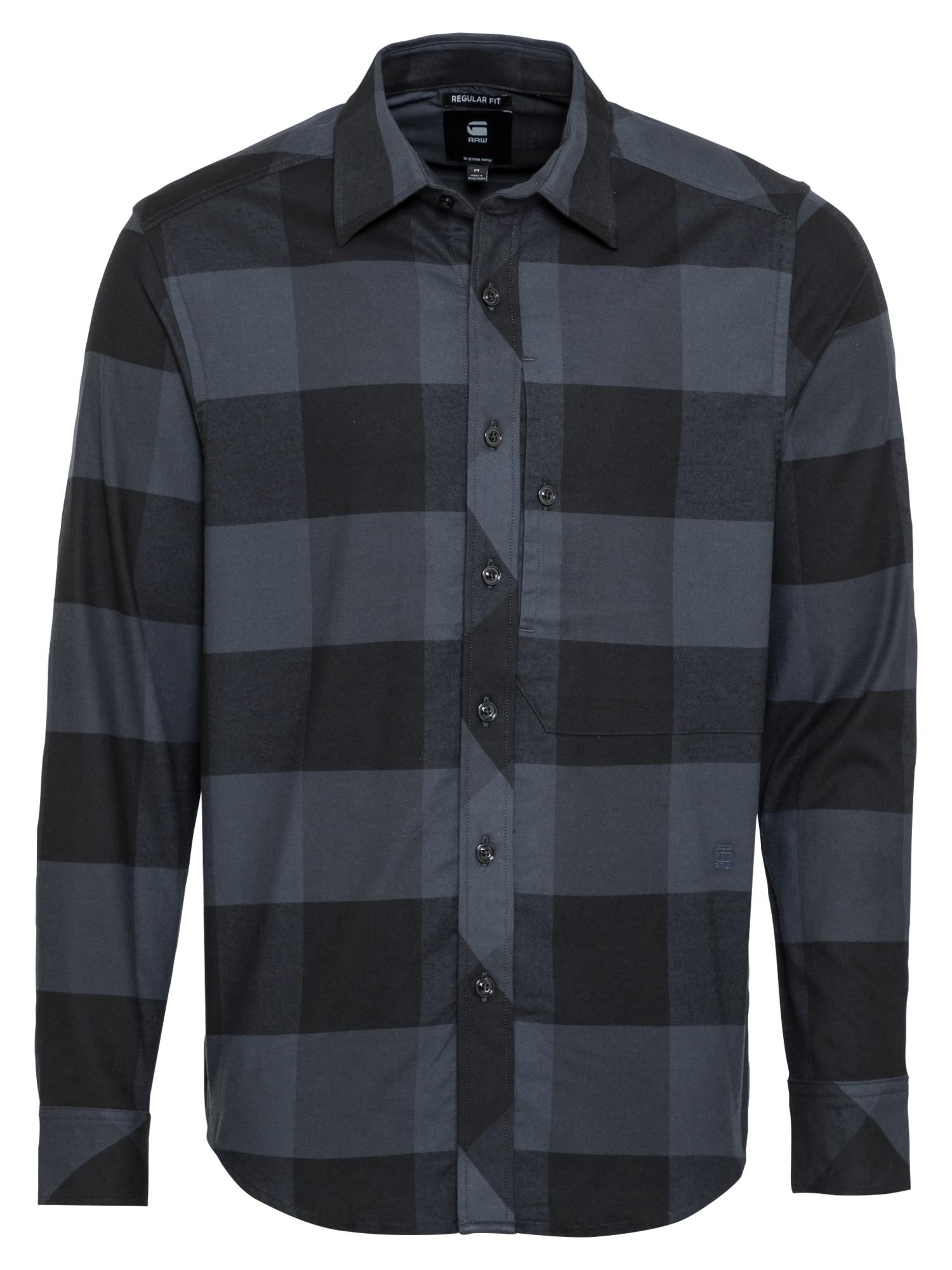 G-Star RAW Košile 'Stalt'  šedá / černá