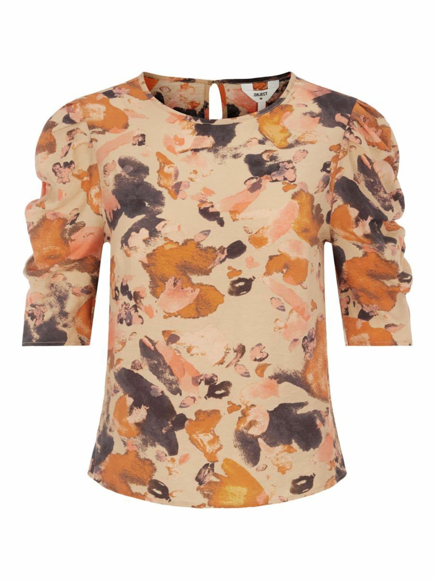 OBJECT Tričko  béžová / oranžová / antracitová