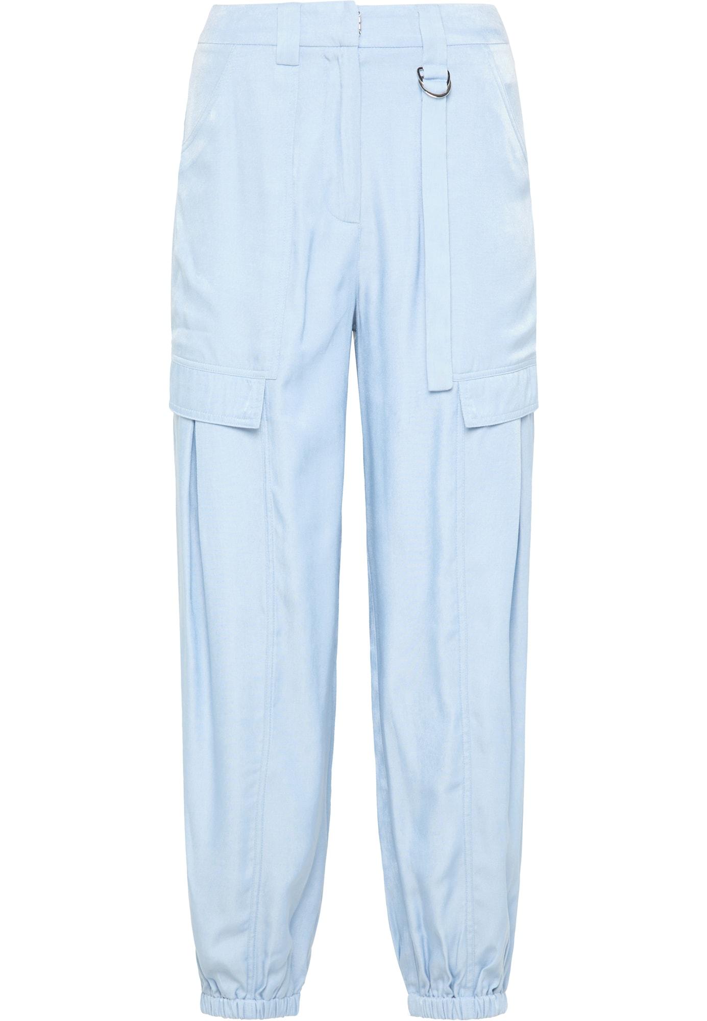 usha BLUE LABEL Laisvo stiliaus kelnės šviesiai mėlyna