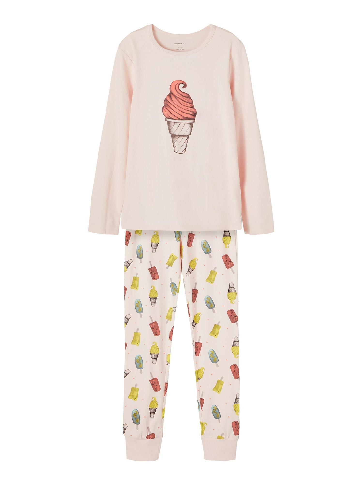 NAME IT Miego kostiumas rožinė / geltona / pastelinė rožinė / raudona