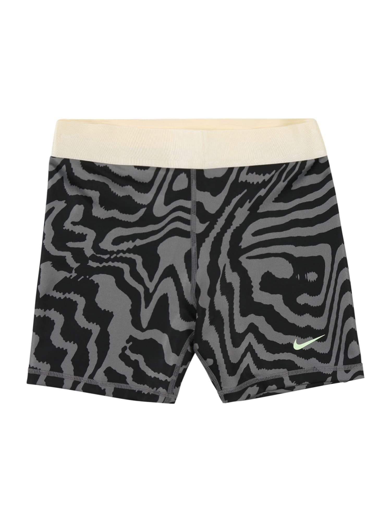 NIKE Sportinės kelnės juoda / pilka / balta