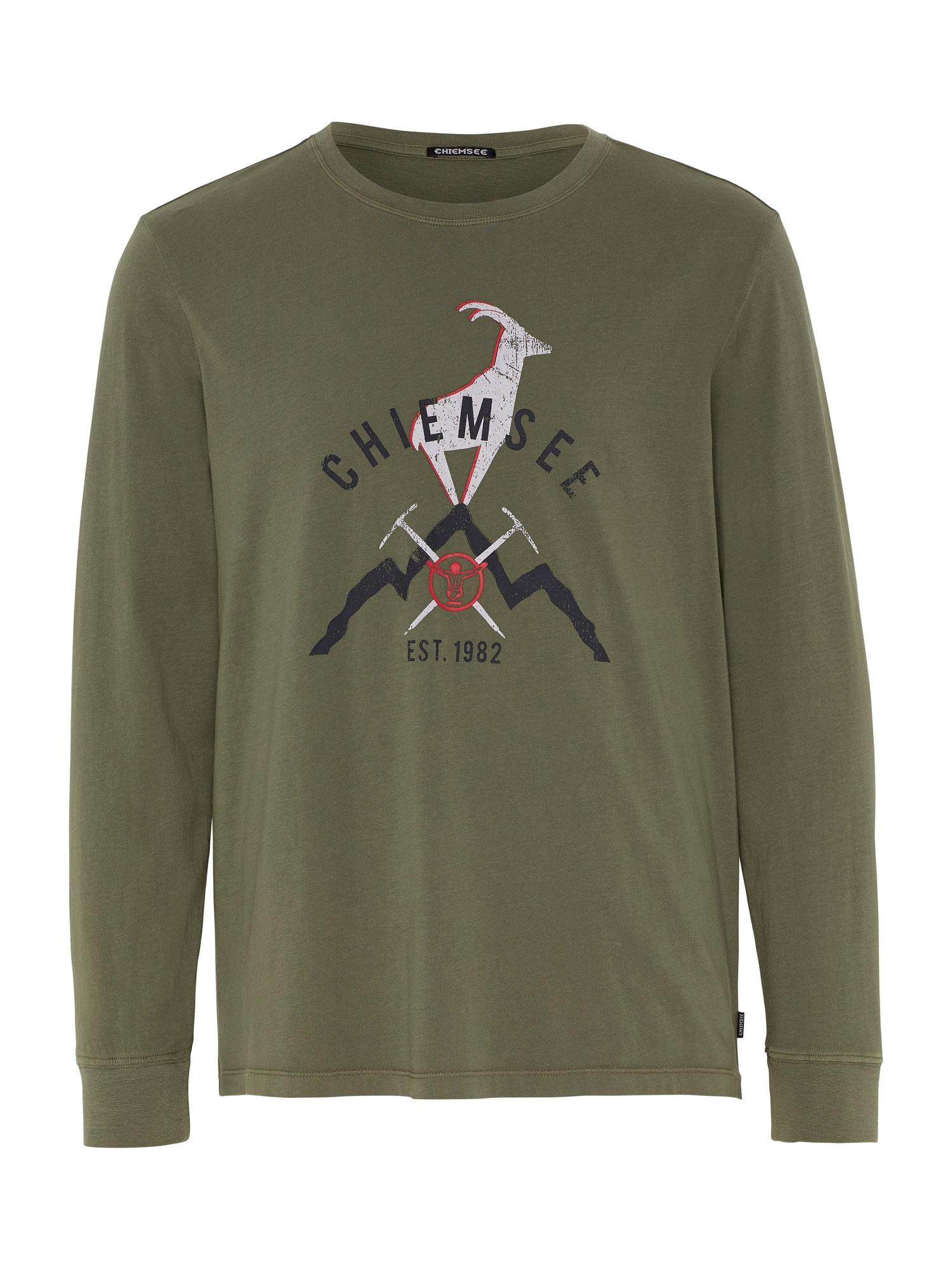 CHIEMSEE Funkční tričko 'BROAD PEAK'  olivová / bílá / černá