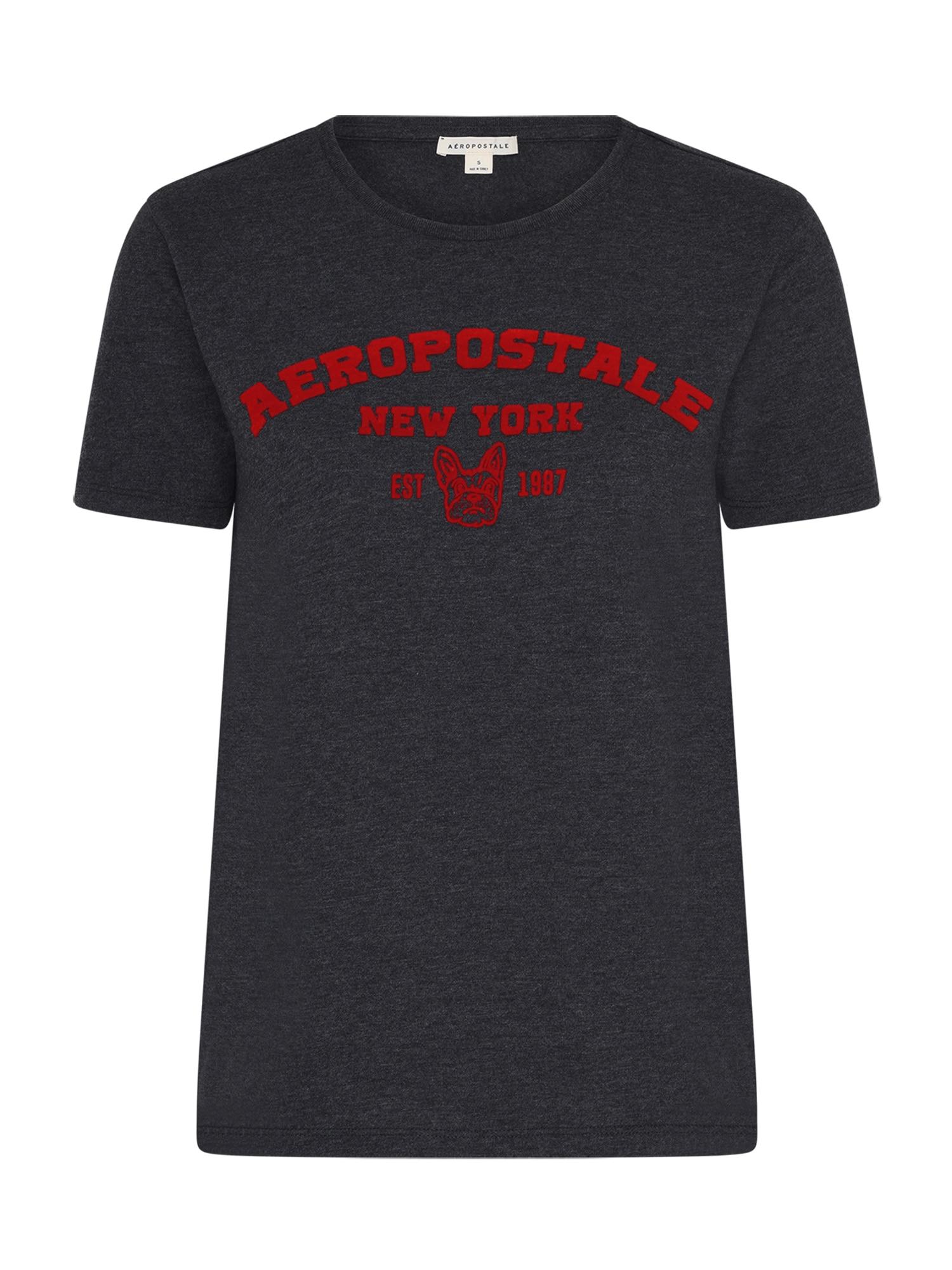 AÈROPOSTALE Marškinėliai antracito / raudona