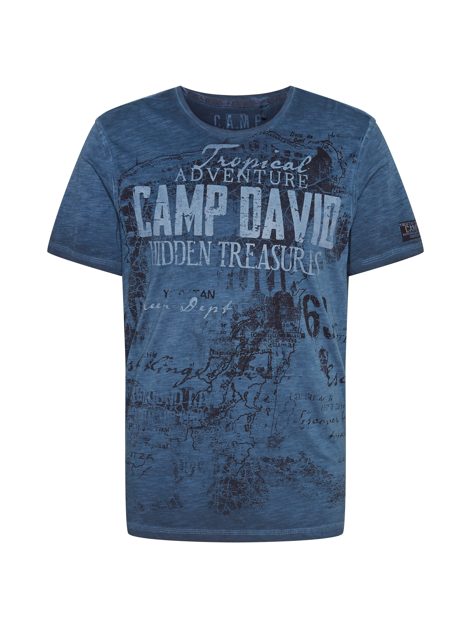 CAMP DAVID Marškinėliai mėlyna / šviesiai mėlyna / nakties mėlyna