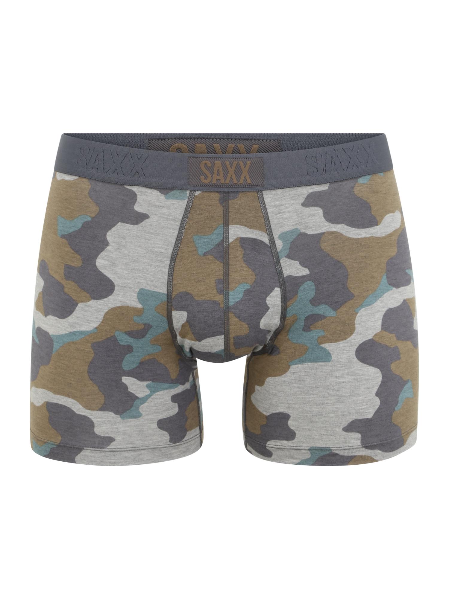 SAXX Boxer trumpikės šviesiai pilka / rusvai žalia / pastelinė mėlyna / tamsiai pilka