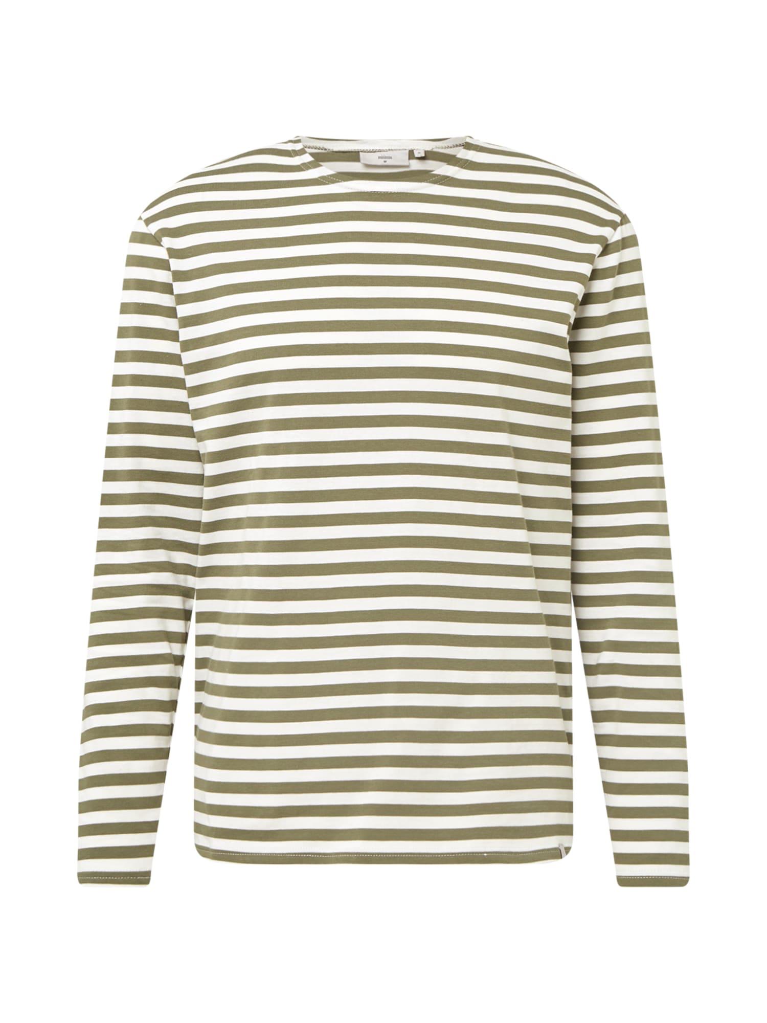 minimum Marškinėliai alyvuogių spalva / balta