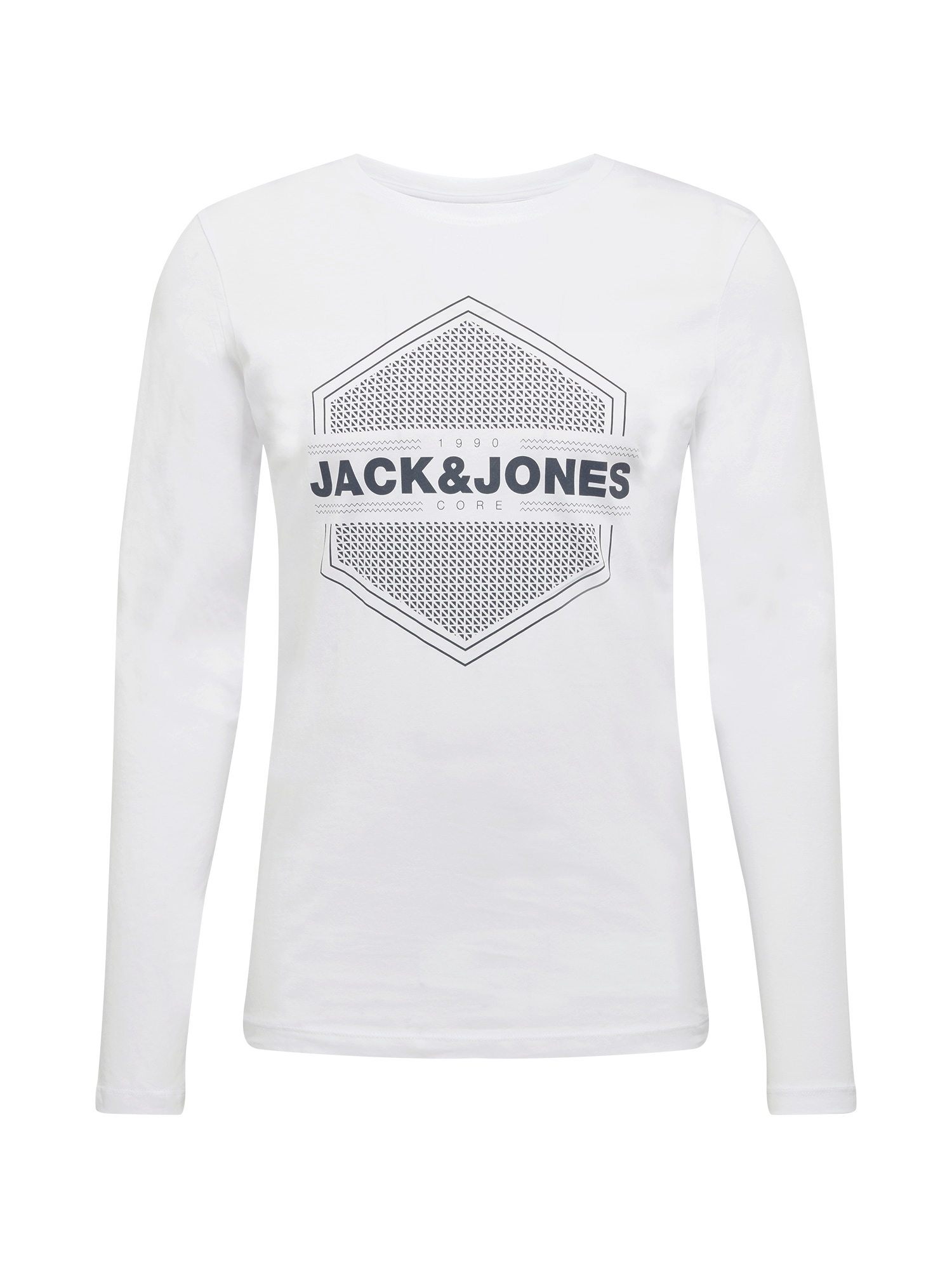 JACK & JONES Marškinėliai balta / juoda