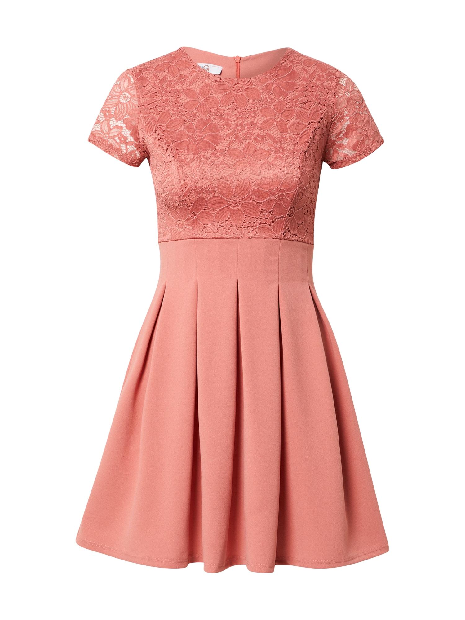 WAL G. Kokteilinė suknelė ryškiai rožinė spalva