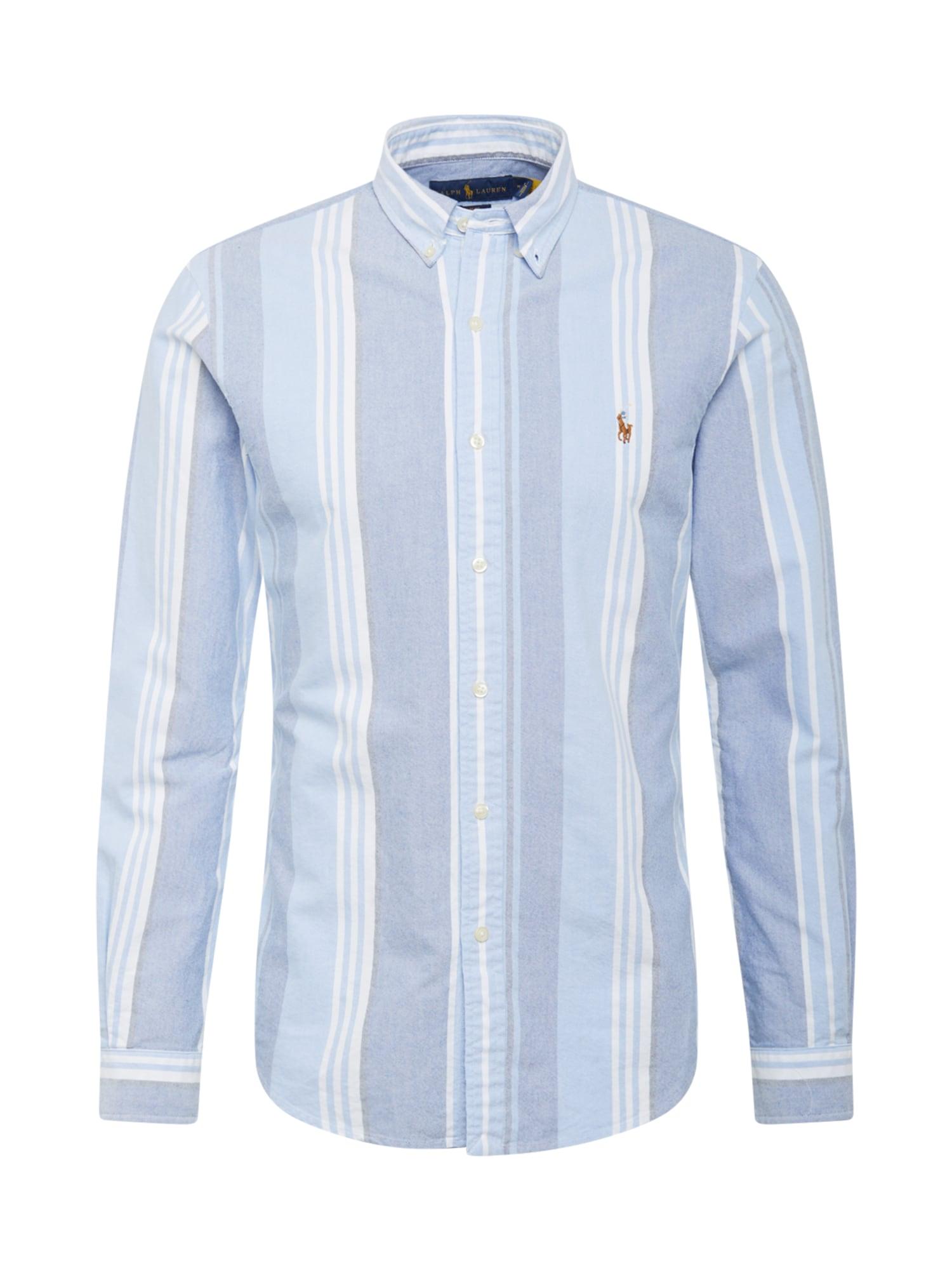 POLO RALPH LAUREN Košile  bílá / světlemodrá / kouřově modrá