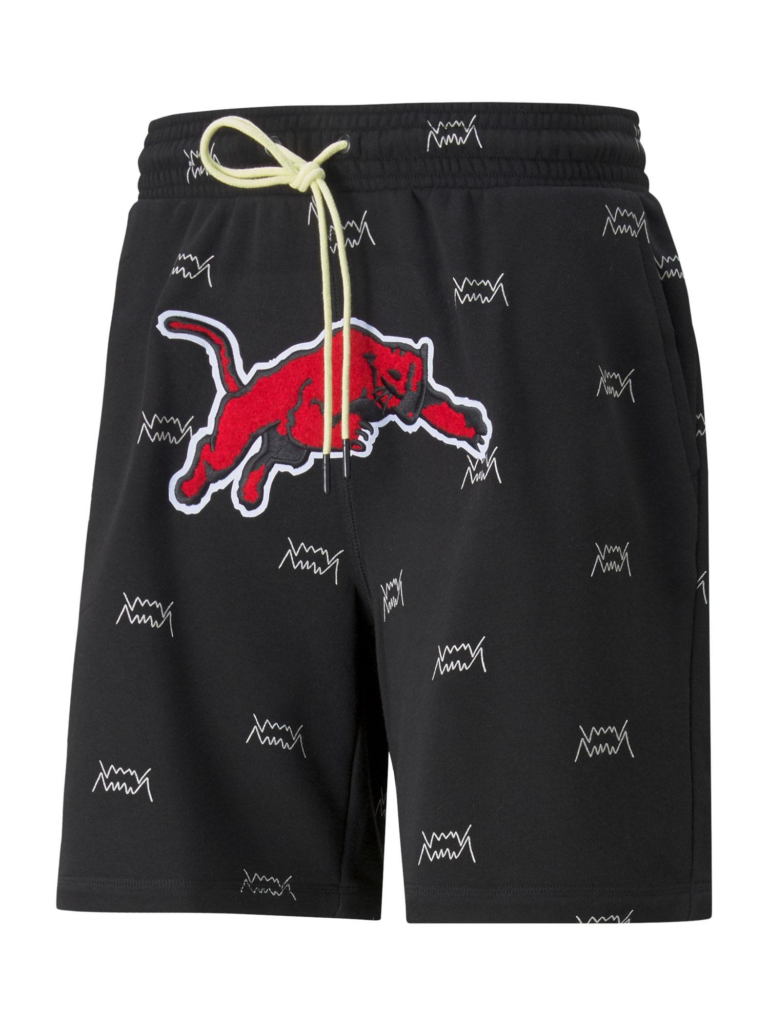 PUMA Sportovní kalhoty 'Blue Chip'  černá / bílá / červená
