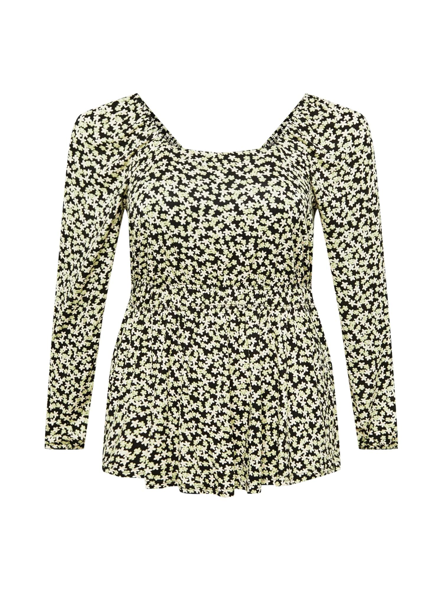 Dorothy Perkins Curve Marškinėliai juoda / balta