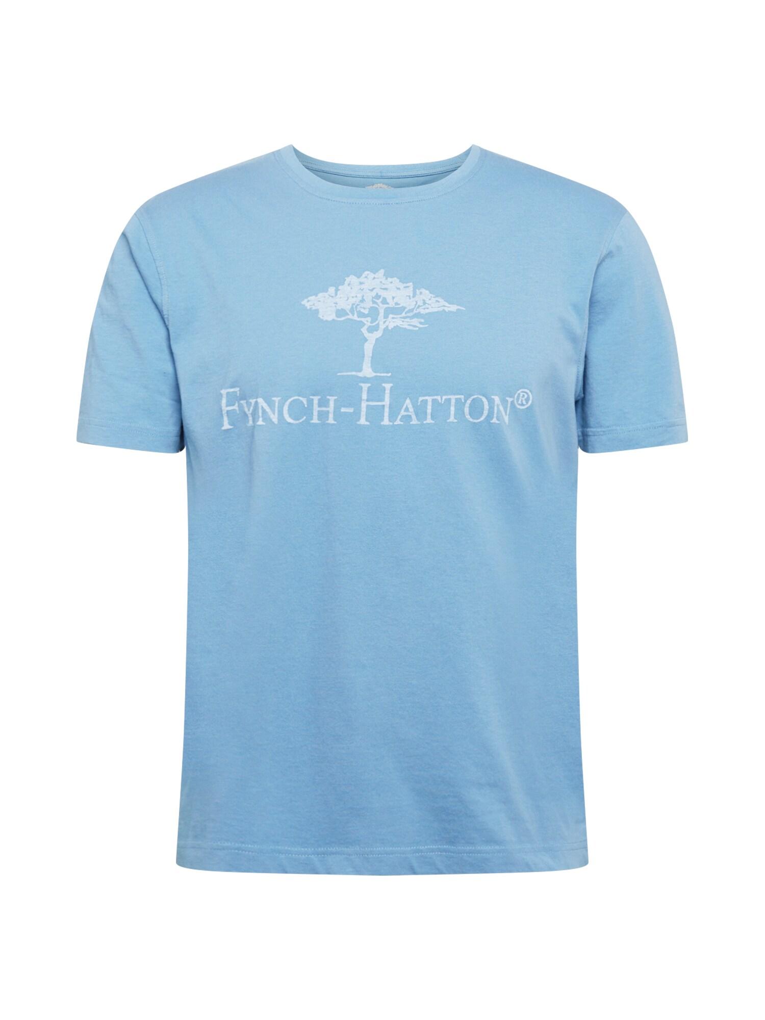 FYNCH-HATTON Marškinėliai mėlyna dūmų spalva / balta