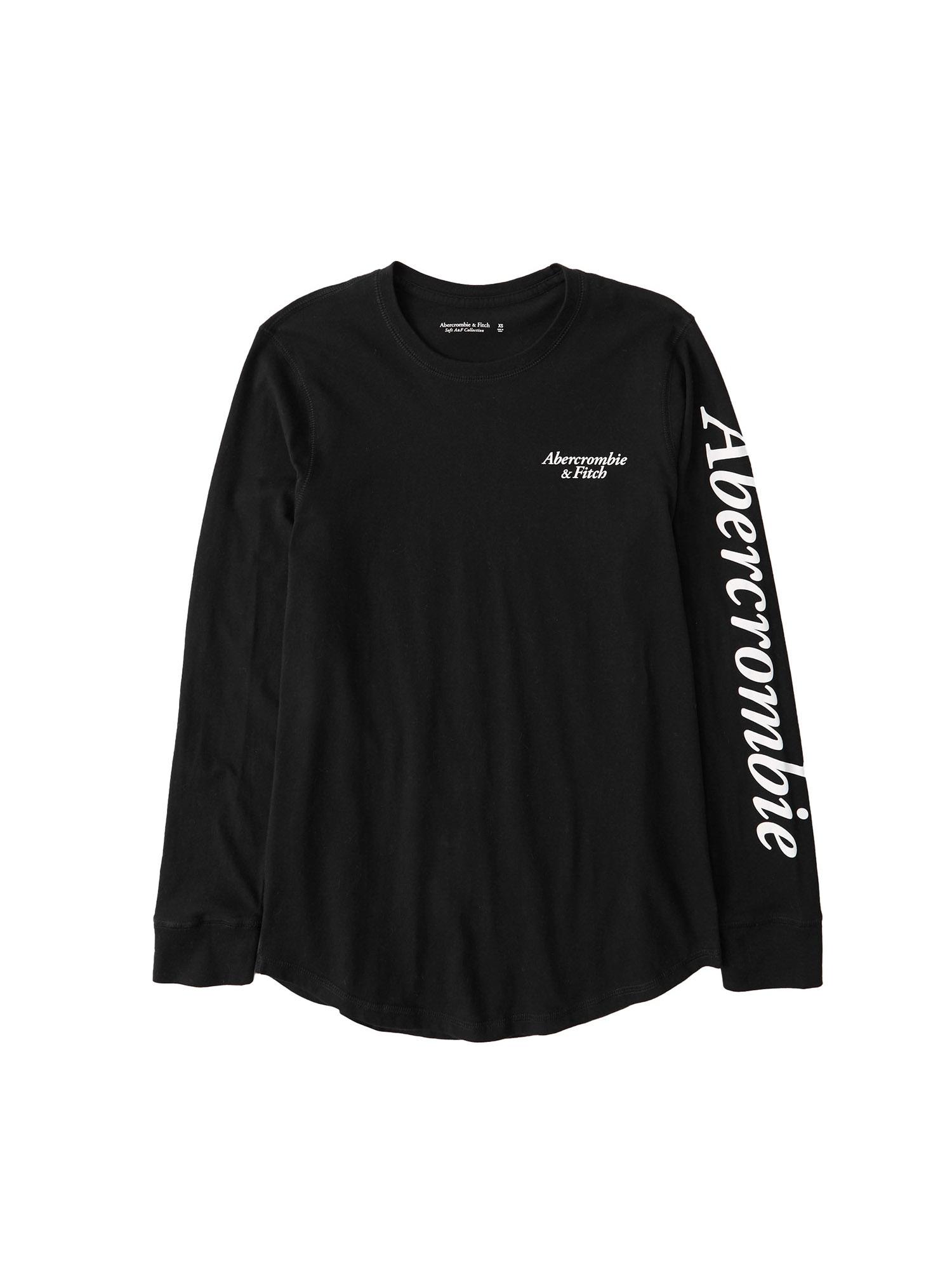 Abercrombie & Fitch Marškinėliai juoda / balta