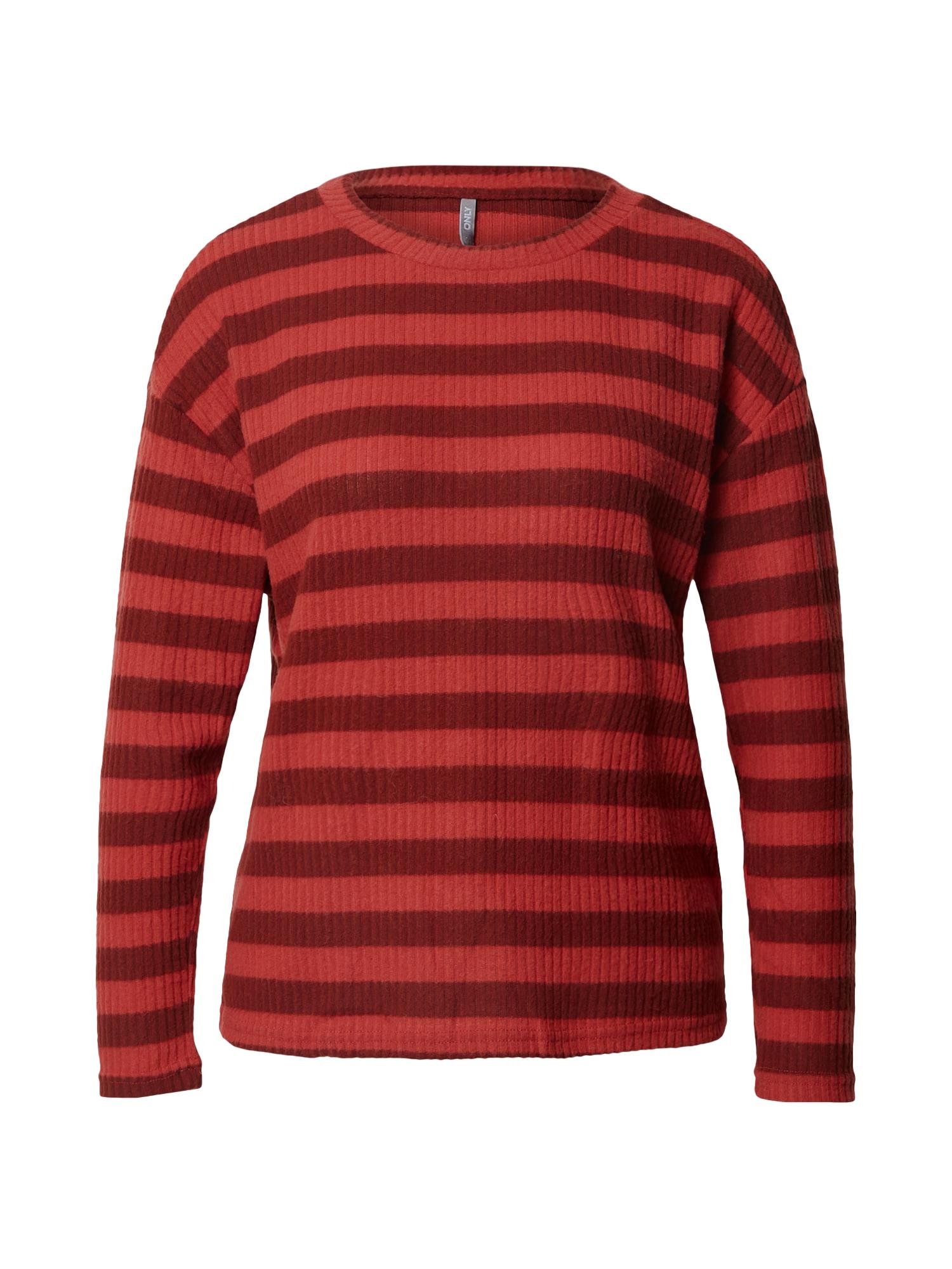 ONLY Tričko 'Cortney'  červená / tmavě červená