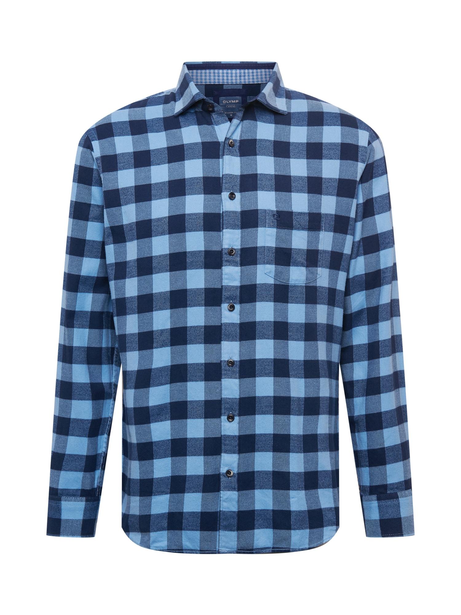 OLYMP Košile  modrá / tmavě modrá / světlemodrá