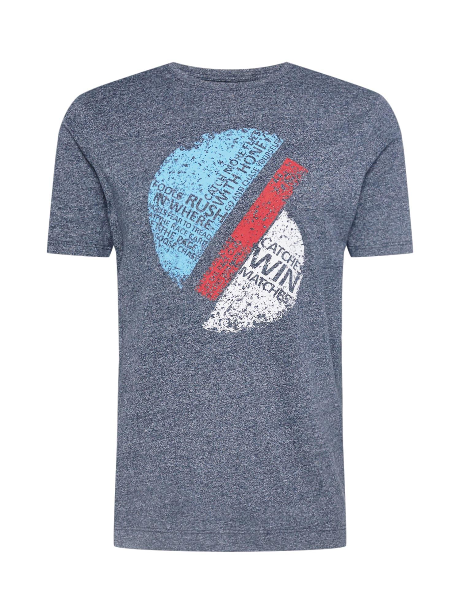 OLYMP Marškinėliai margai mėlyna / balta / raudona / šviesiai mėlyna