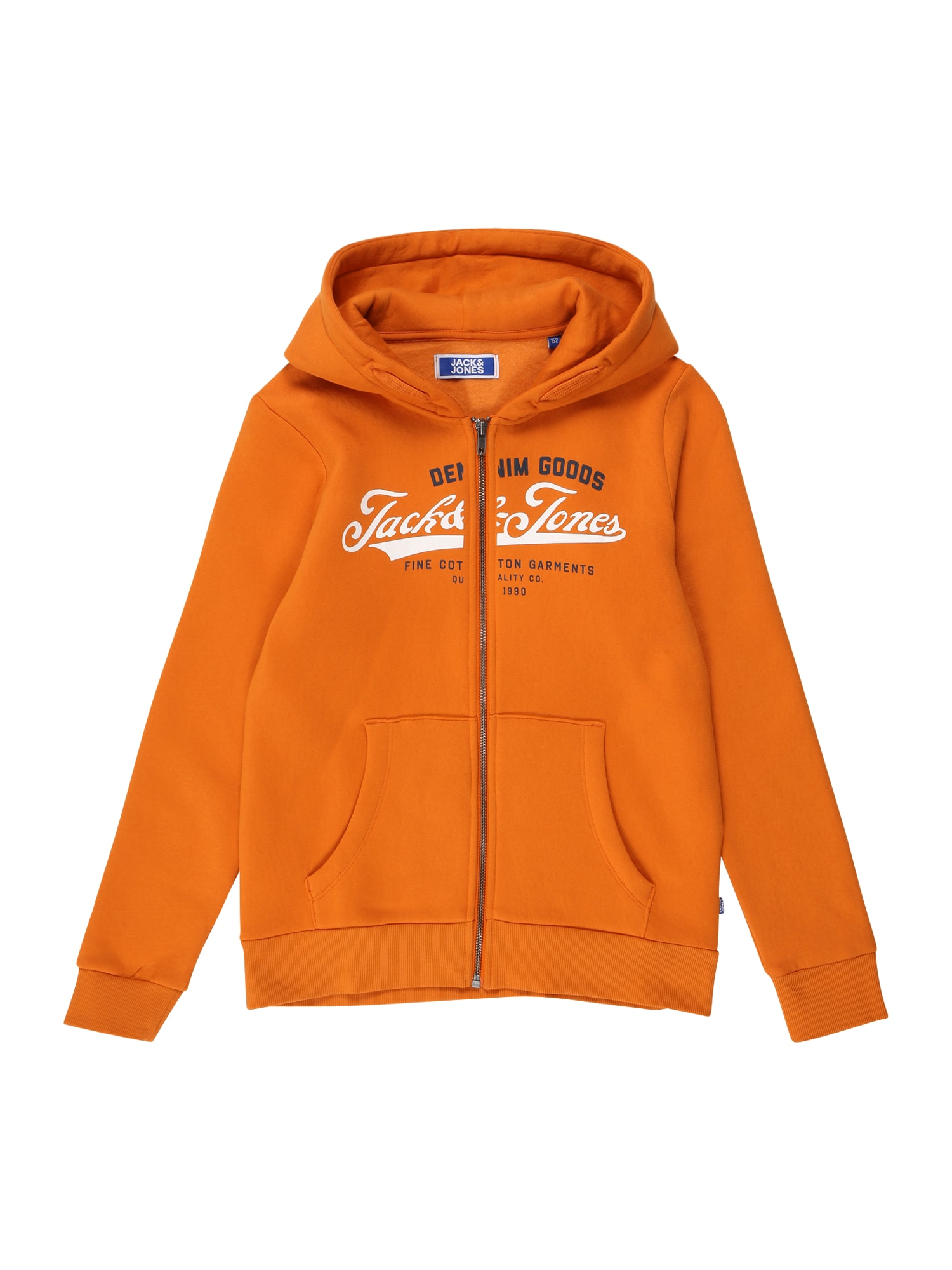 Jack & Jones Junior Džemperis oranžinė / nakties mėlyna / balta