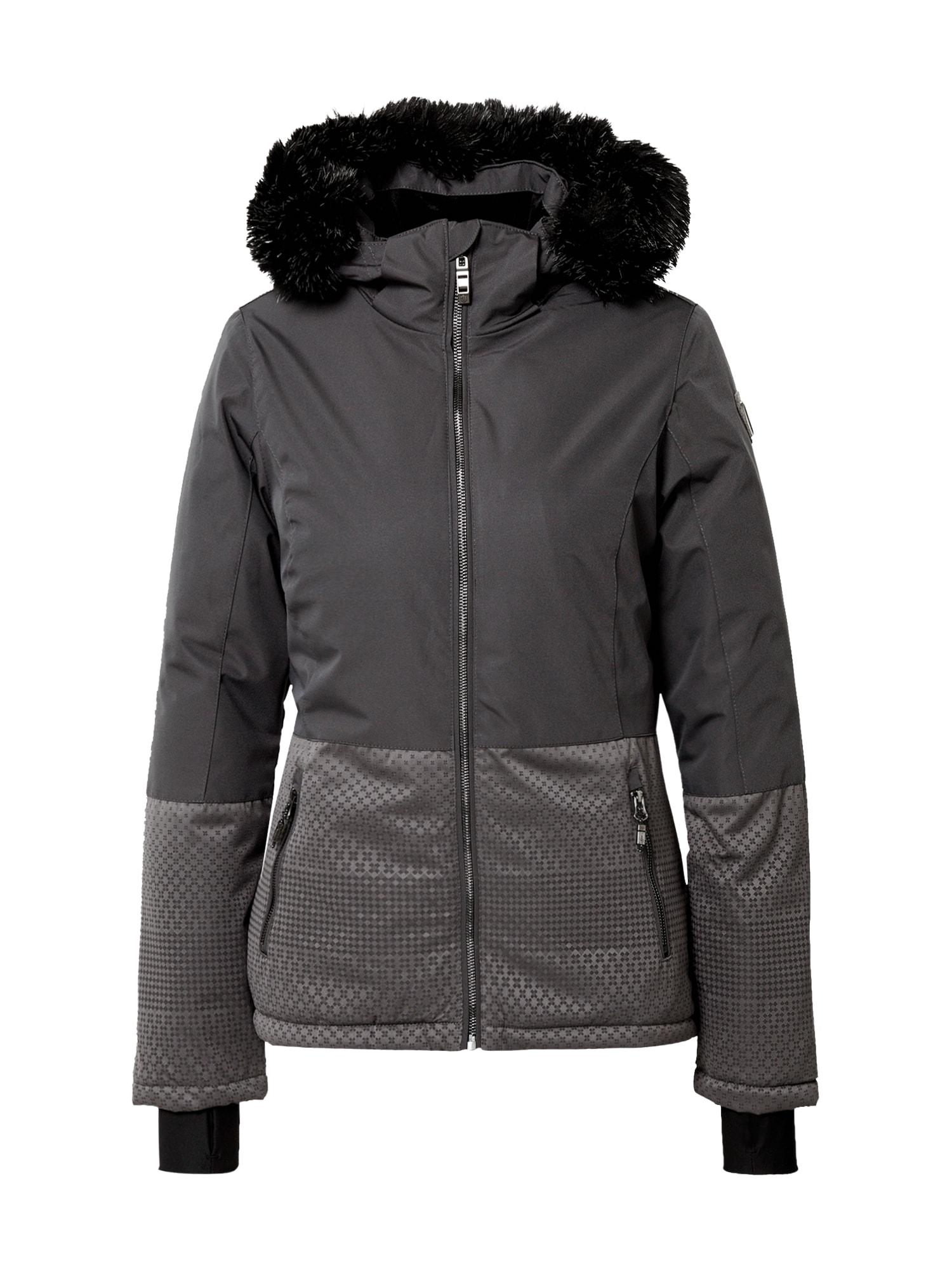 KILLTEC Funkční bunda 'Kirstin'  černá / šedá