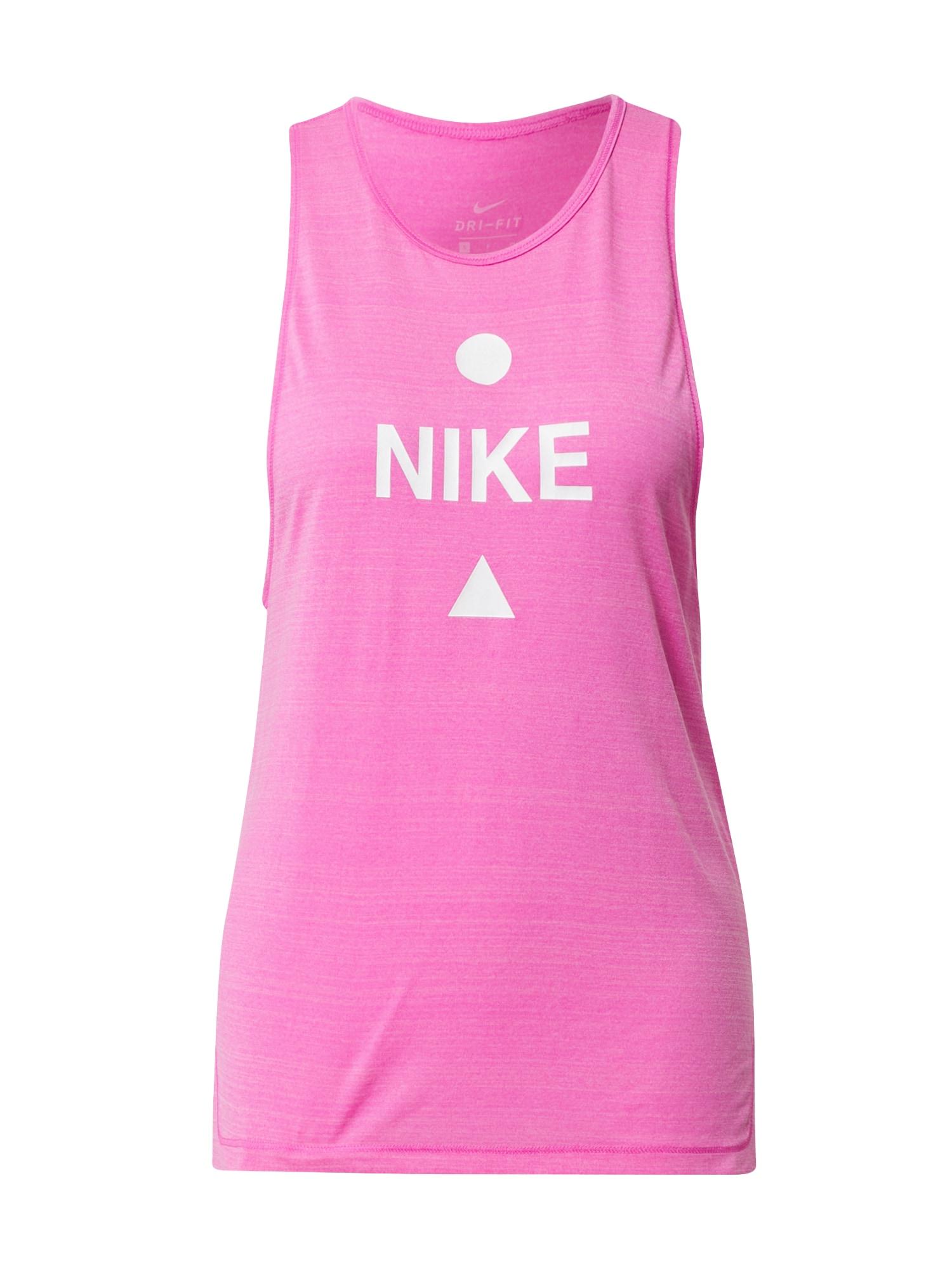NIKE Sportovní top  bílá / pink