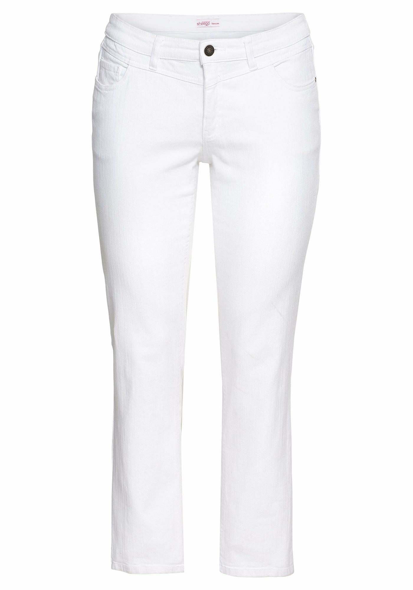 SHEEGO Džinsai balto džinso spalva