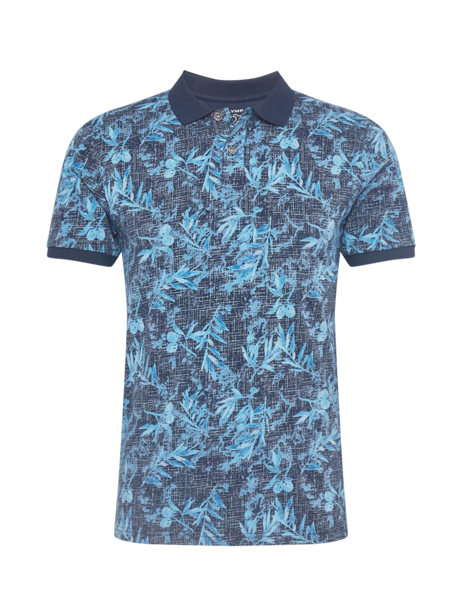 OLYMP Marškinėliai vandens spalva / melsvai pilka / violetinė-mėlyna