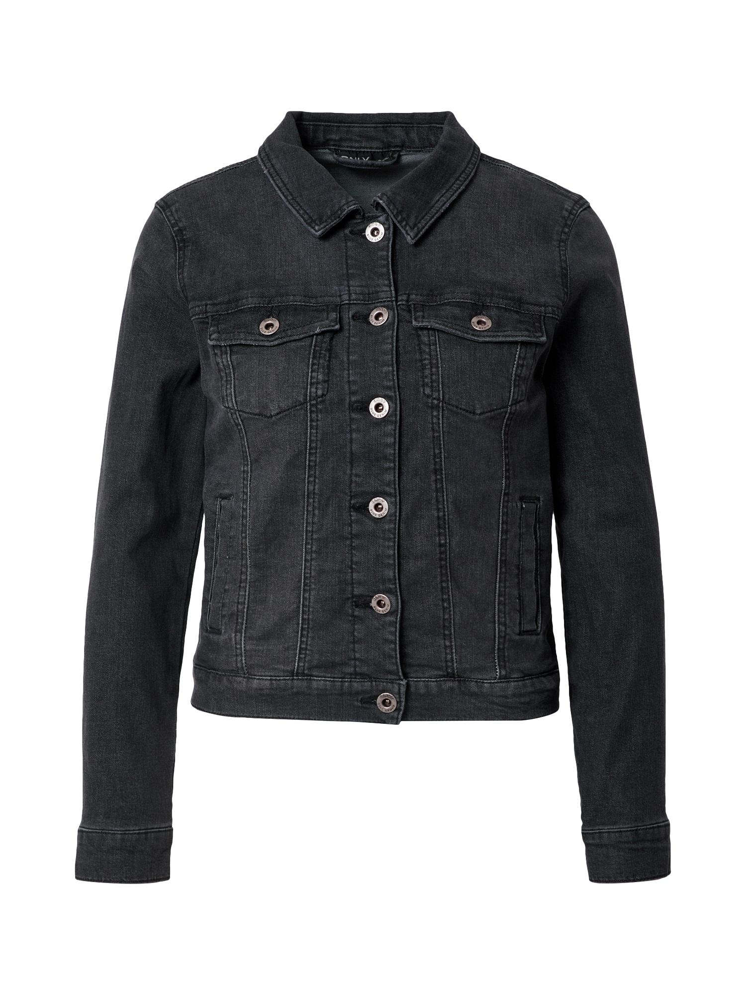 ONLY Demisezoninė striukė 'DINA' juodo džinso spalva