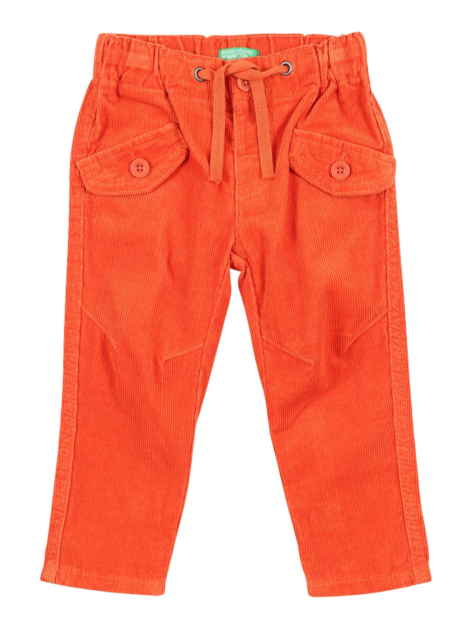 UNITED COLORS OF BENETTON Kelnės oranžinė-raudona
