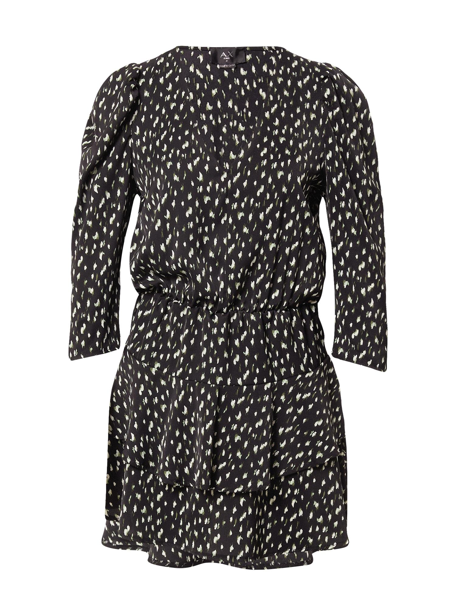 AX Paris Suknelė balta / juoda / žalia
