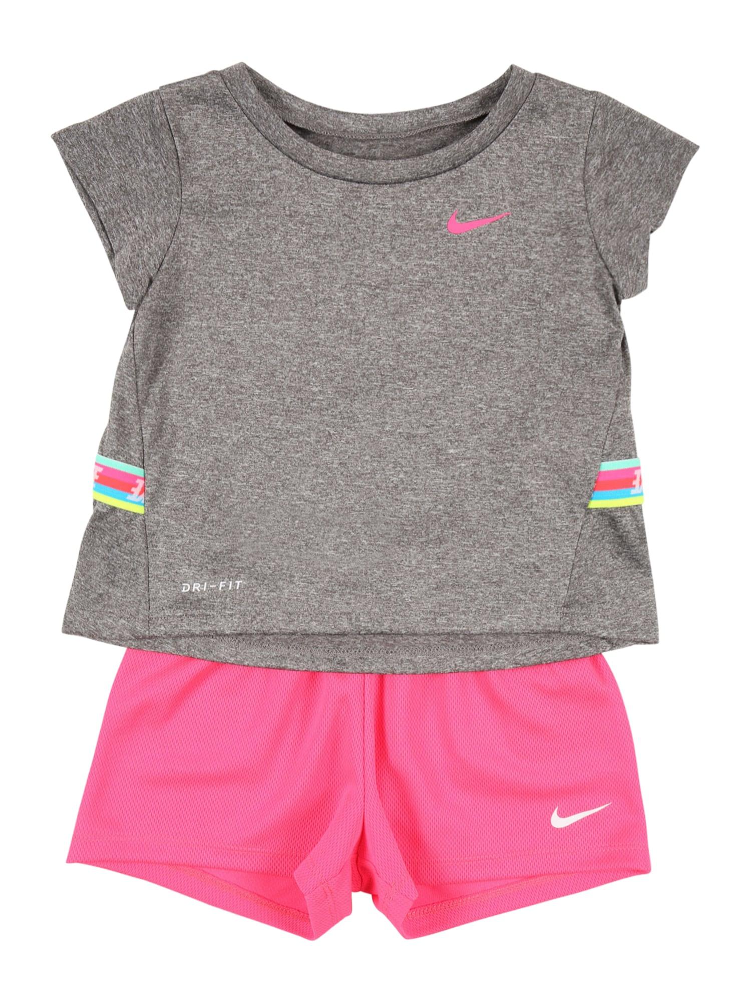 Nike Sportswear Rinkinys rožinė / margai pilka