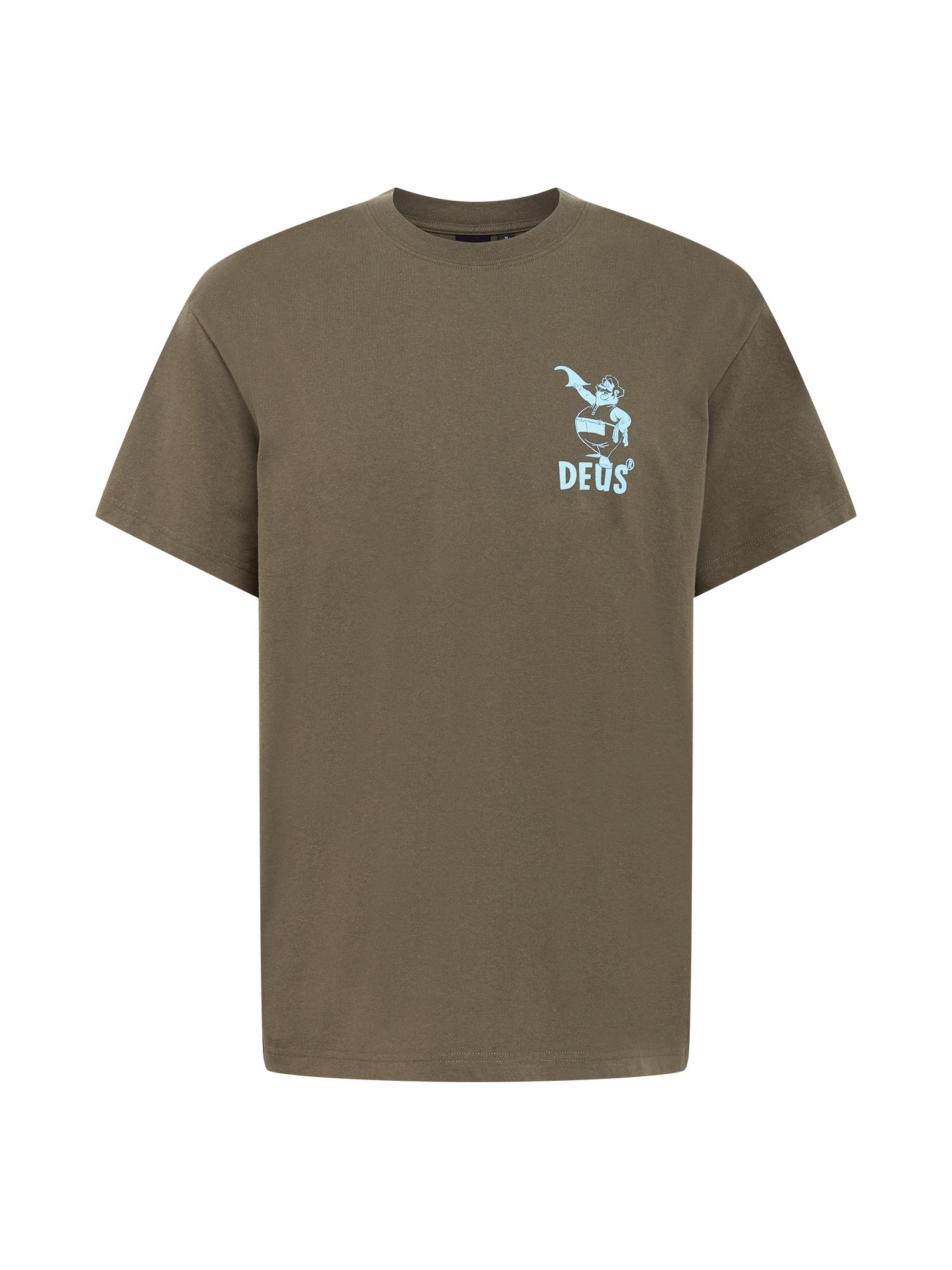 DEUS EX MACHINA Marškinėliai rusvai žalia / šviesiai mėlyna