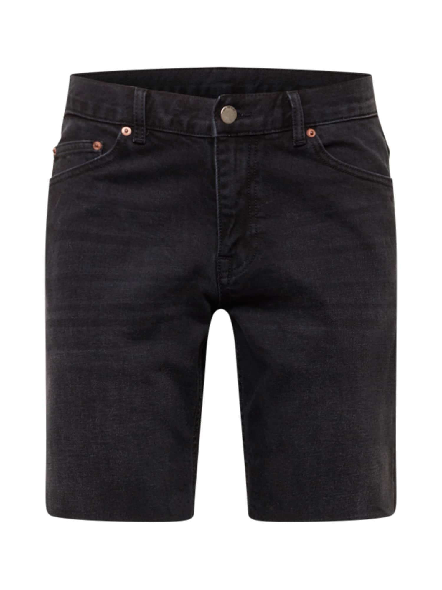 Dr. Denim Džinsai 'Clark' juodo džinso spalva