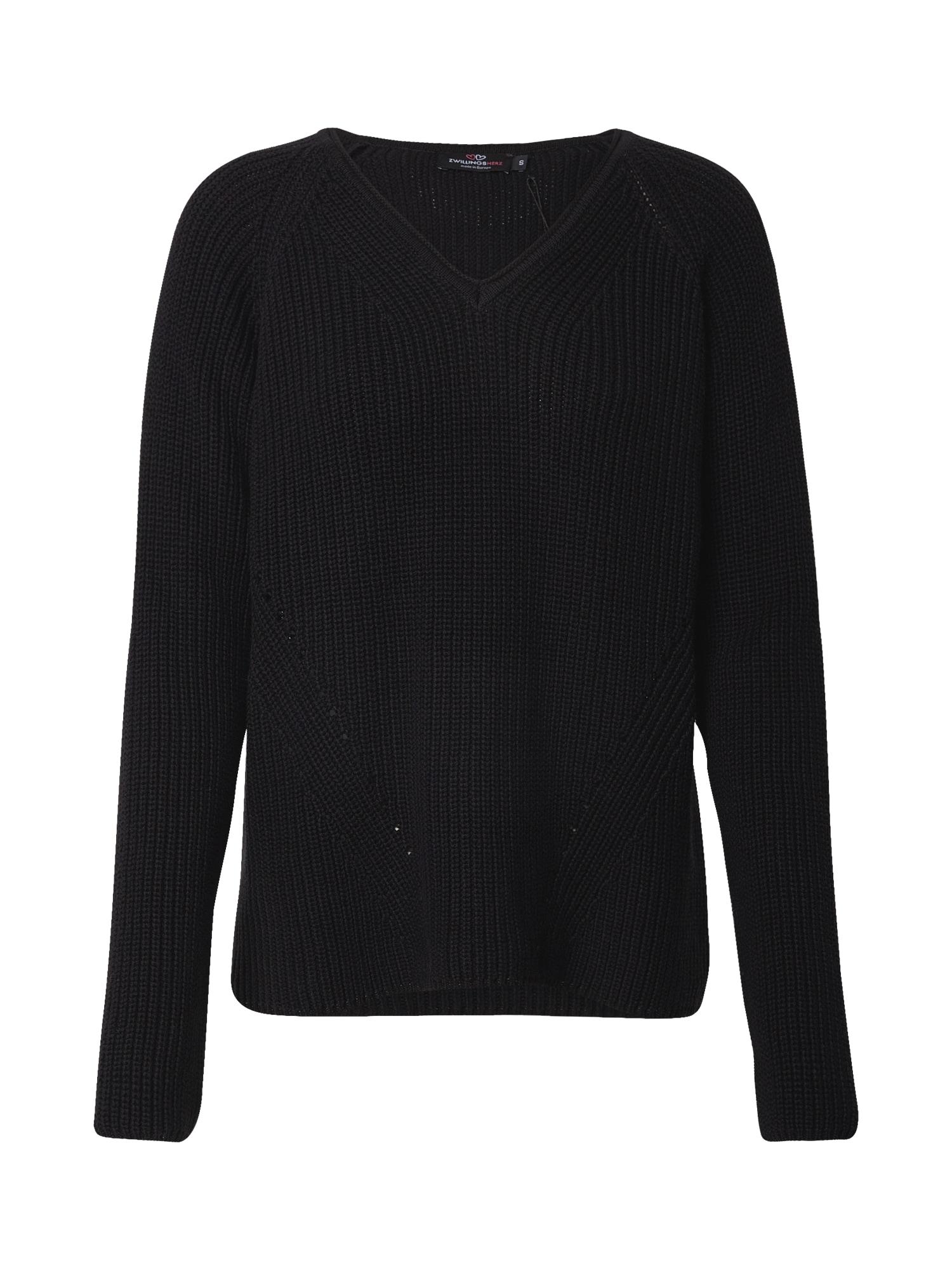 Zwillingsherz Megztinis juoda