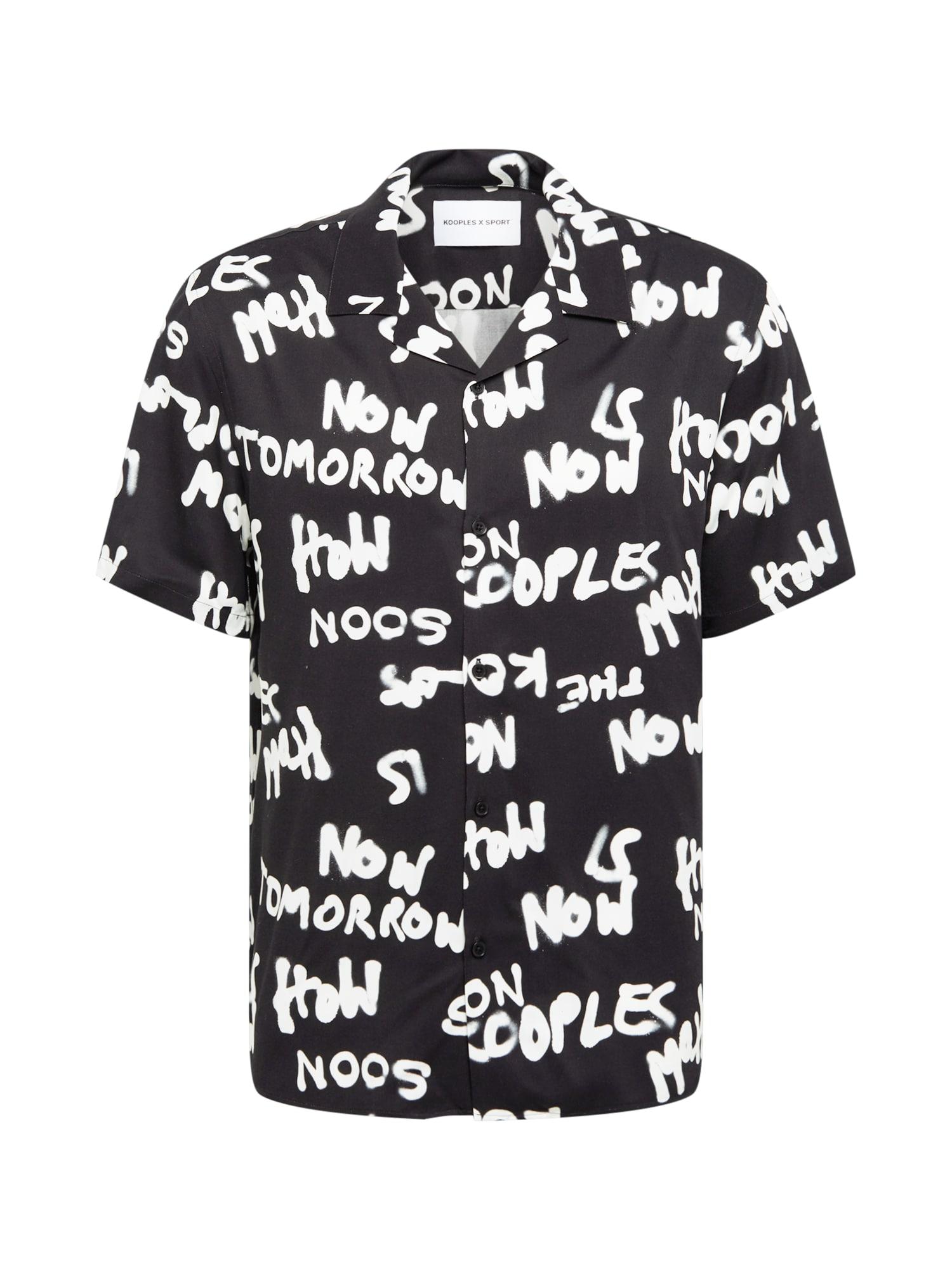 THE KOOPLES SPORT Marškiniai juoda / balta