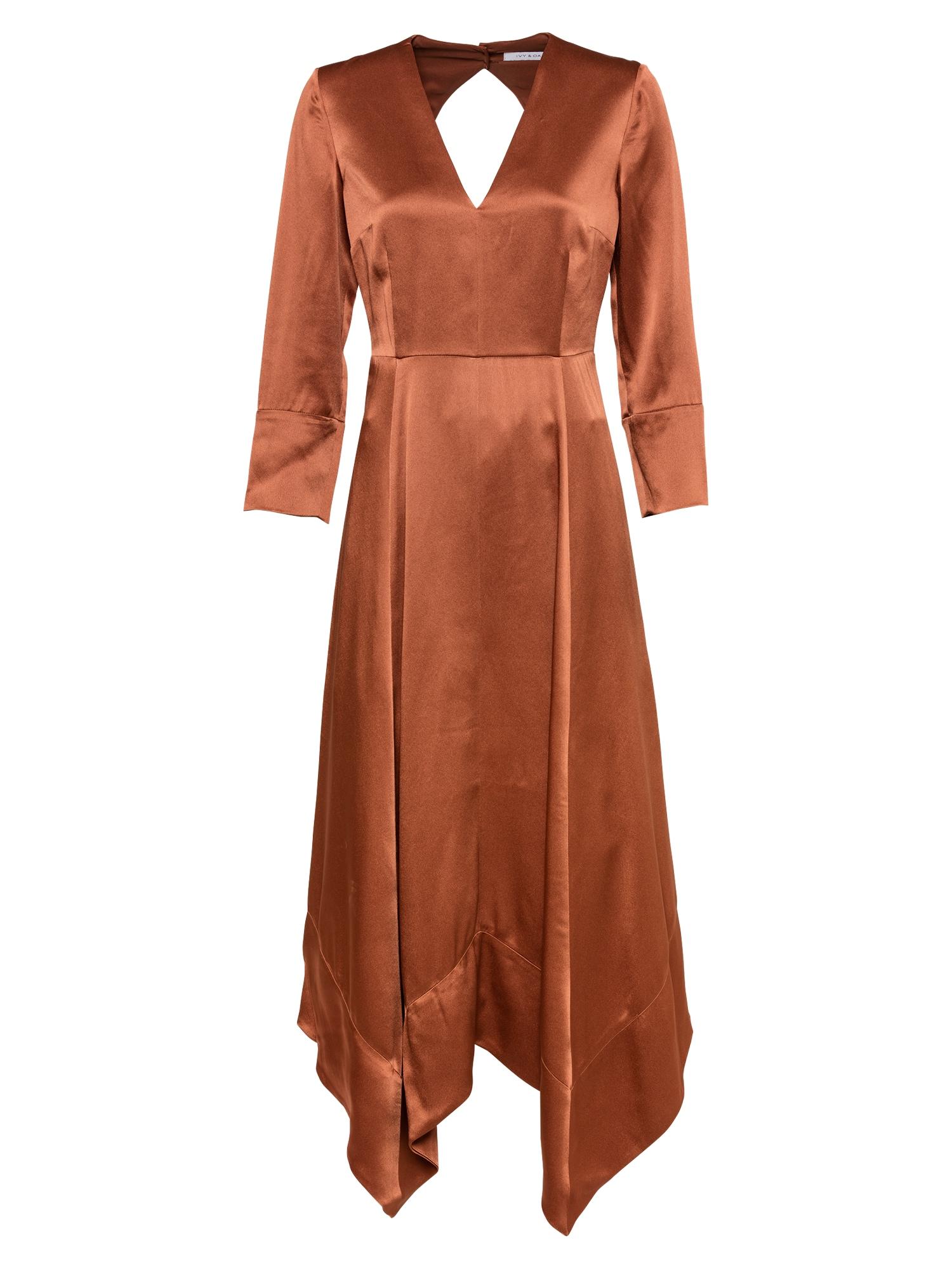 IVY & OAK Kokteilinė suknelė rusva
