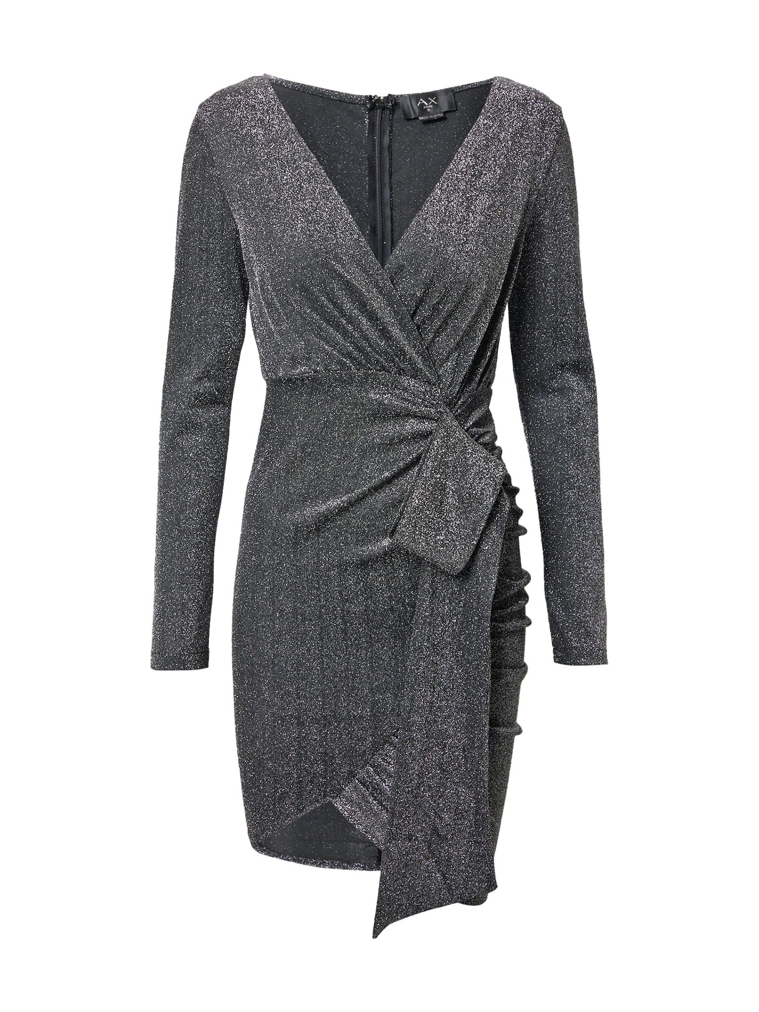 AX Paris Kokteilinė suknelė sidabrinė