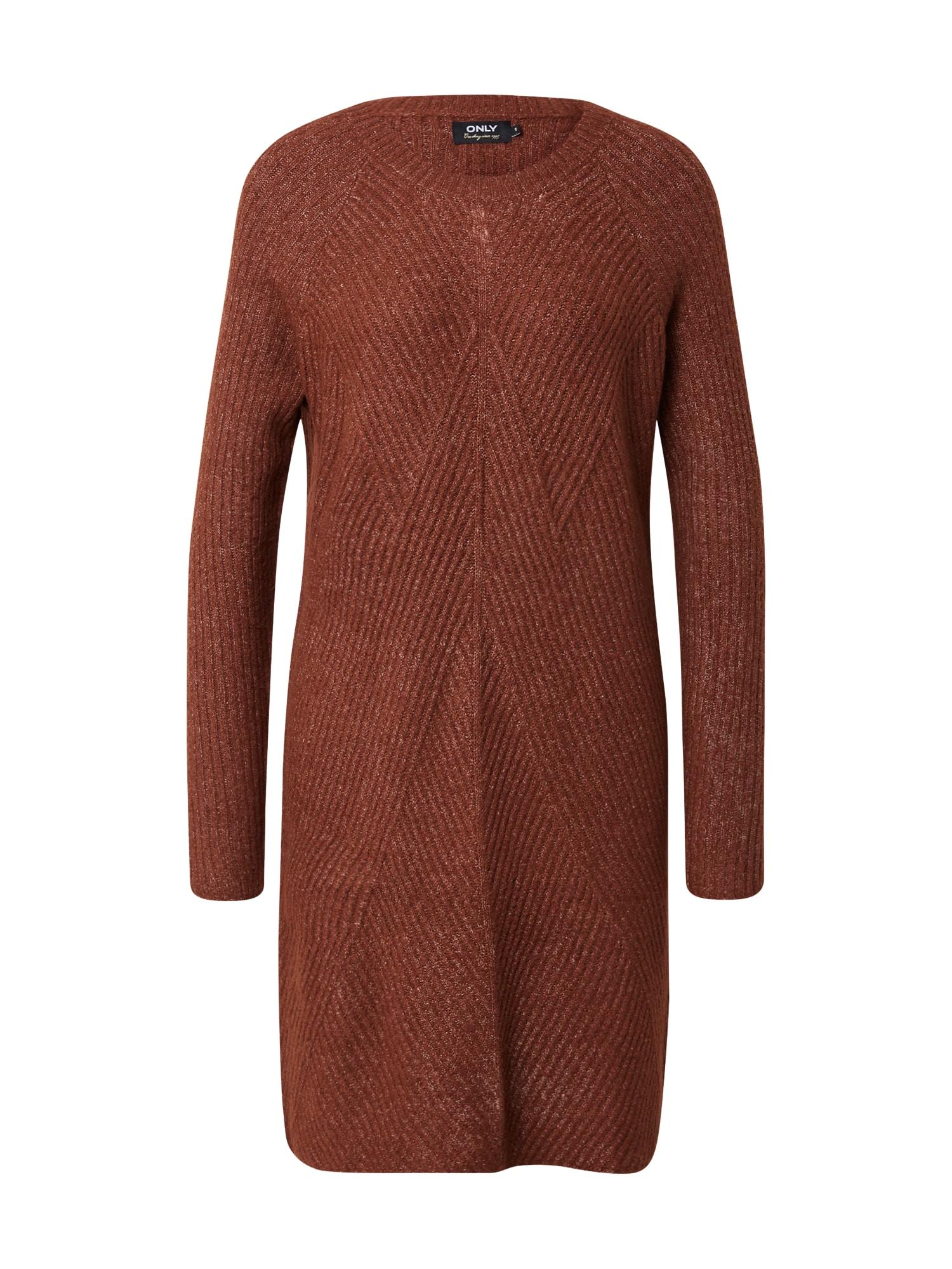 ONLY Úpletové šaty 'CAROL'  hnědá