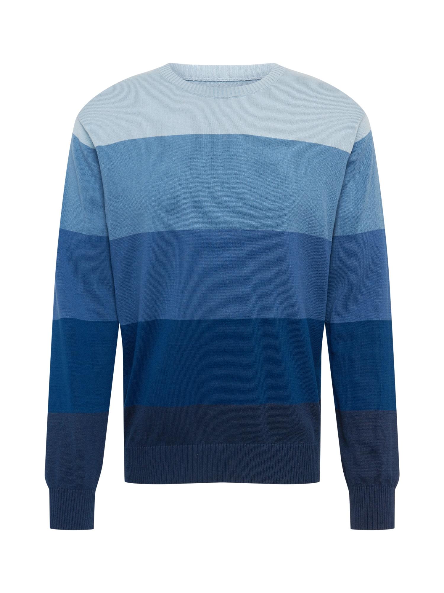 DEDICATED. Megztinis tamsiai mėlyna / tamsiai mėlyna jūros spalva / melsvai pilka / mėlyna dūmų spalva / šviesiai mėlyna