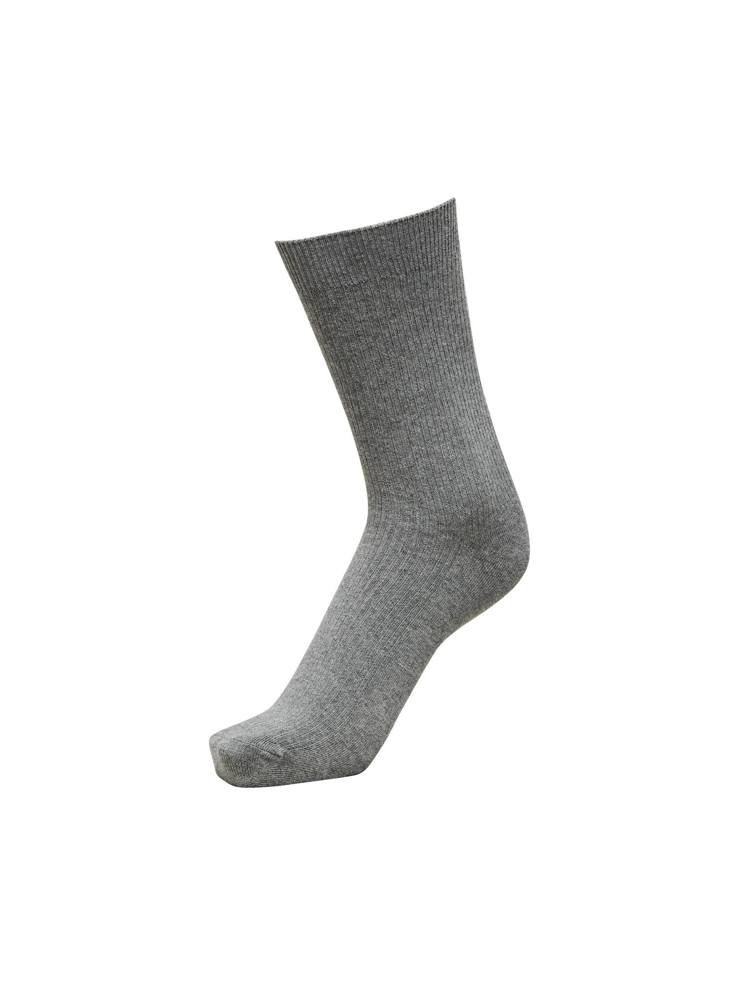 SELECTED HOMME Kojinės tamsiai pilka / pilka
