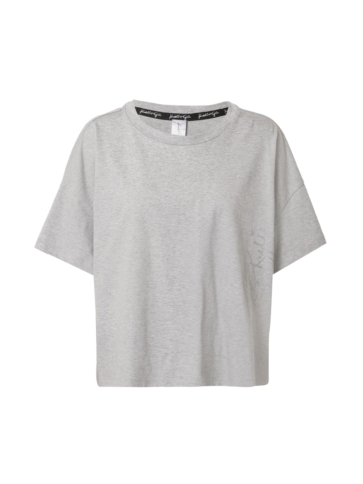 KENDALL + KYLIE Marškinėliai sidabrinė / pilka