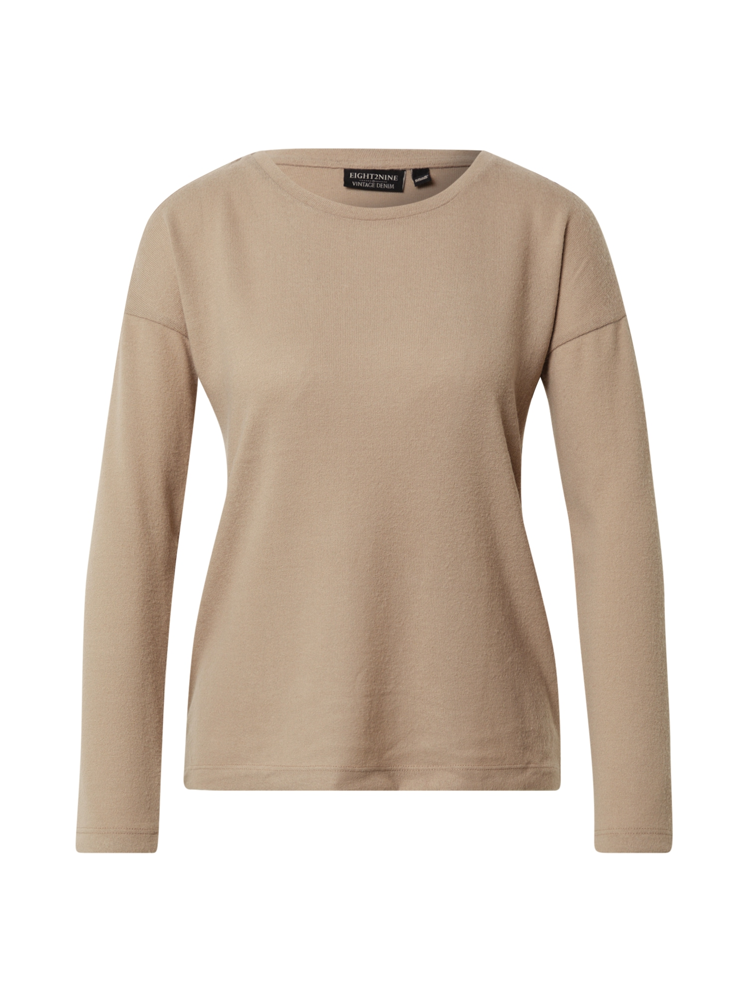 Eight2Nine Marškinėliai gelsvai pilka spalva