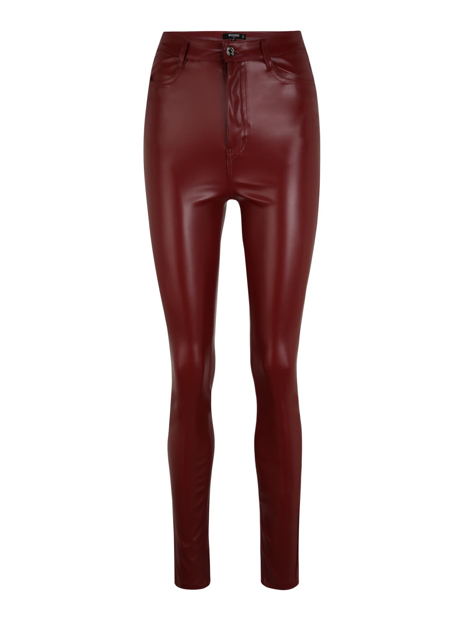 Missguided (Tall) Kelnės raudona