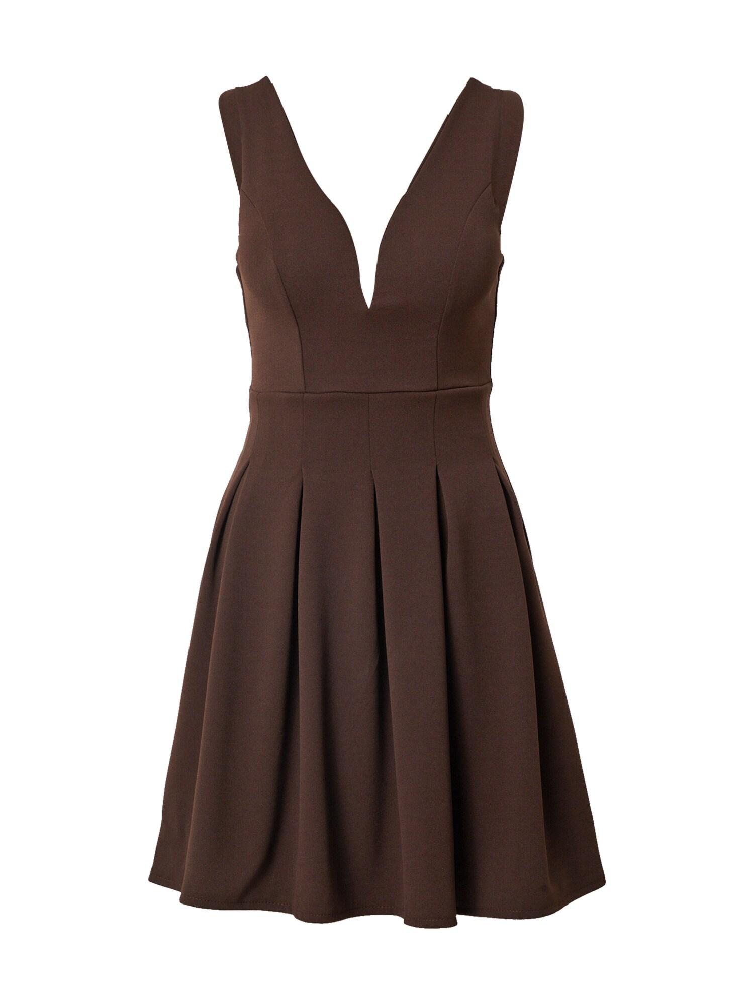 WAL G. Kokteilinė suknelė tamsiai ruda